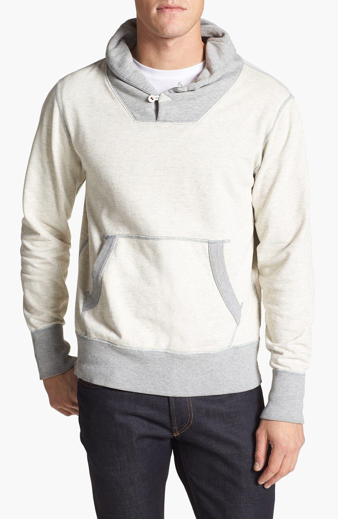 TODD SNYDER + CHAMPION, Shawl Collar Sweatshirt, Main thumbnail 1, color, 050