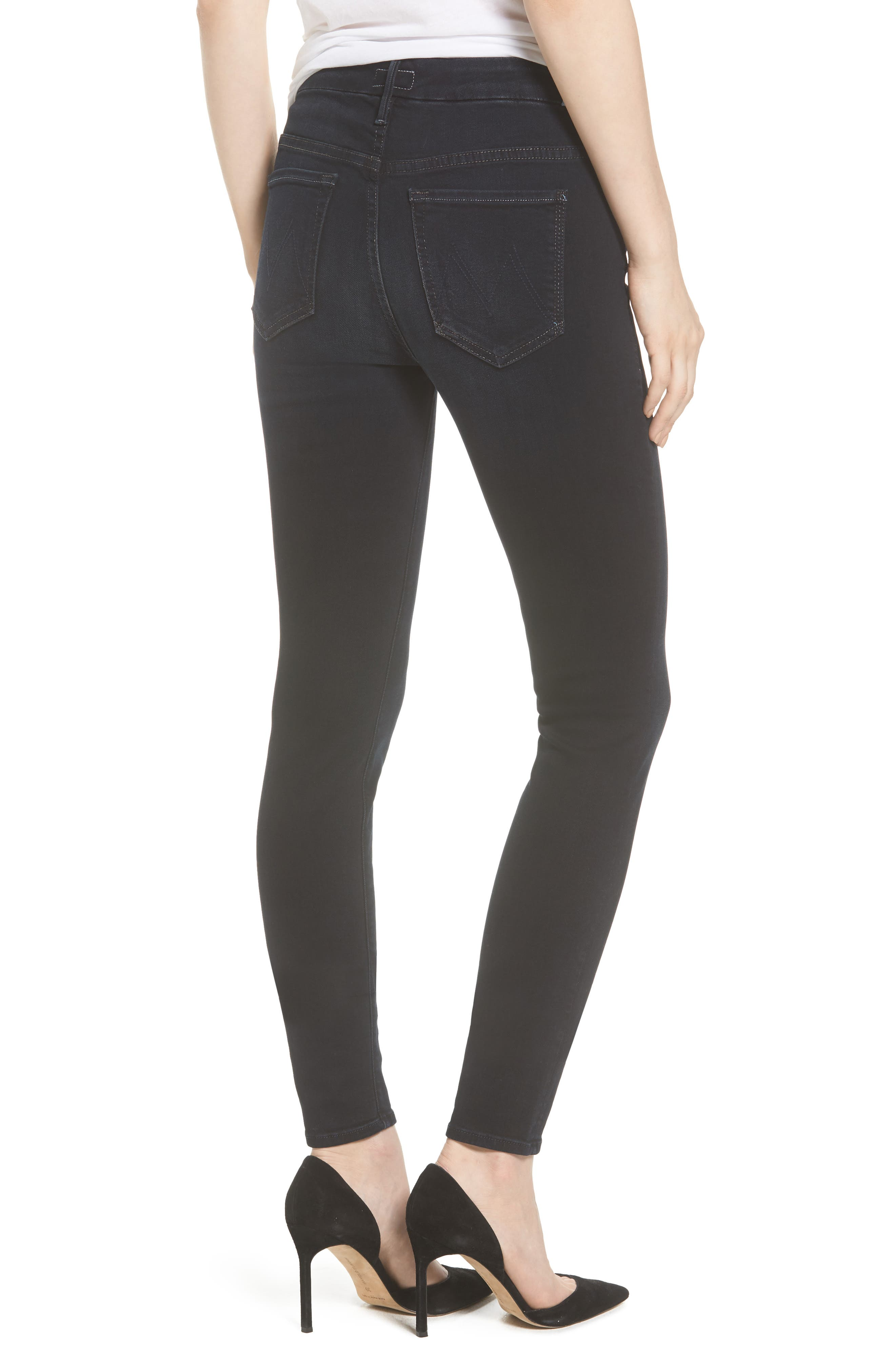 MOTHER, 'The Looker' High Rise Skinny Jeans, Alternate thumbnail 2, color, COFFEE TEA OR ME