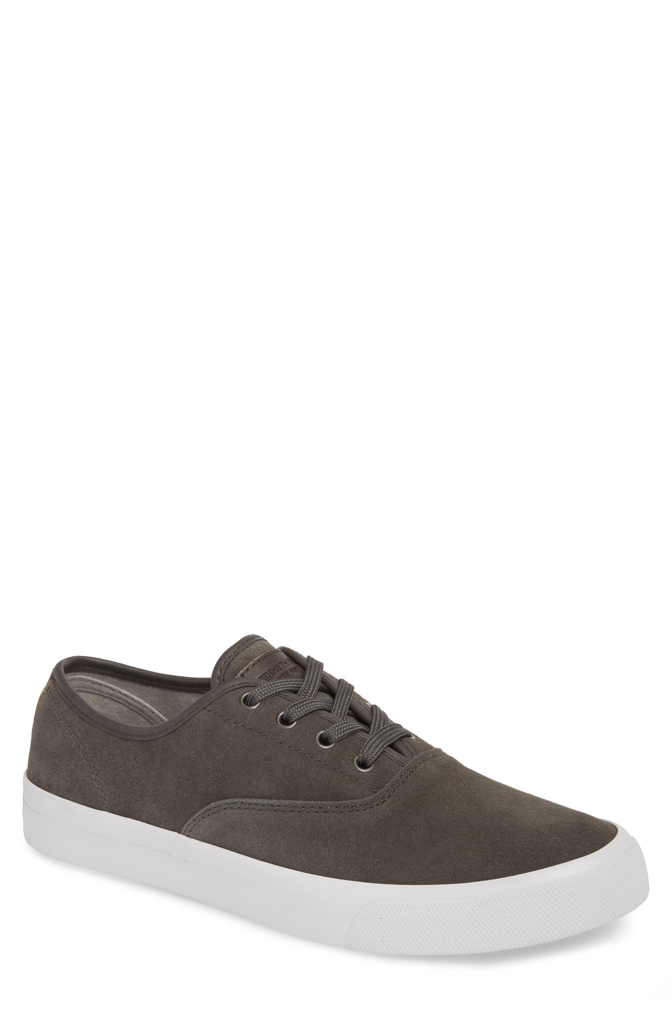KENNETH COLE NEW YORK, Toor Low Top Sneaker, Main thumbnail 1, color, GREY COMBO SUEDE