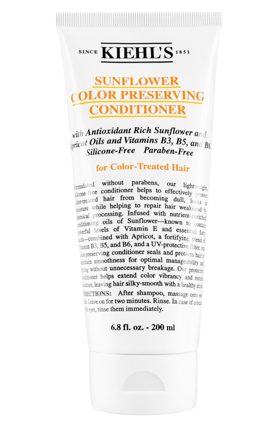 KIEHL'S SINCE 1851, Sunflower Color Preserving Conditioner, Main thumbnail 1, color, NO COLOR