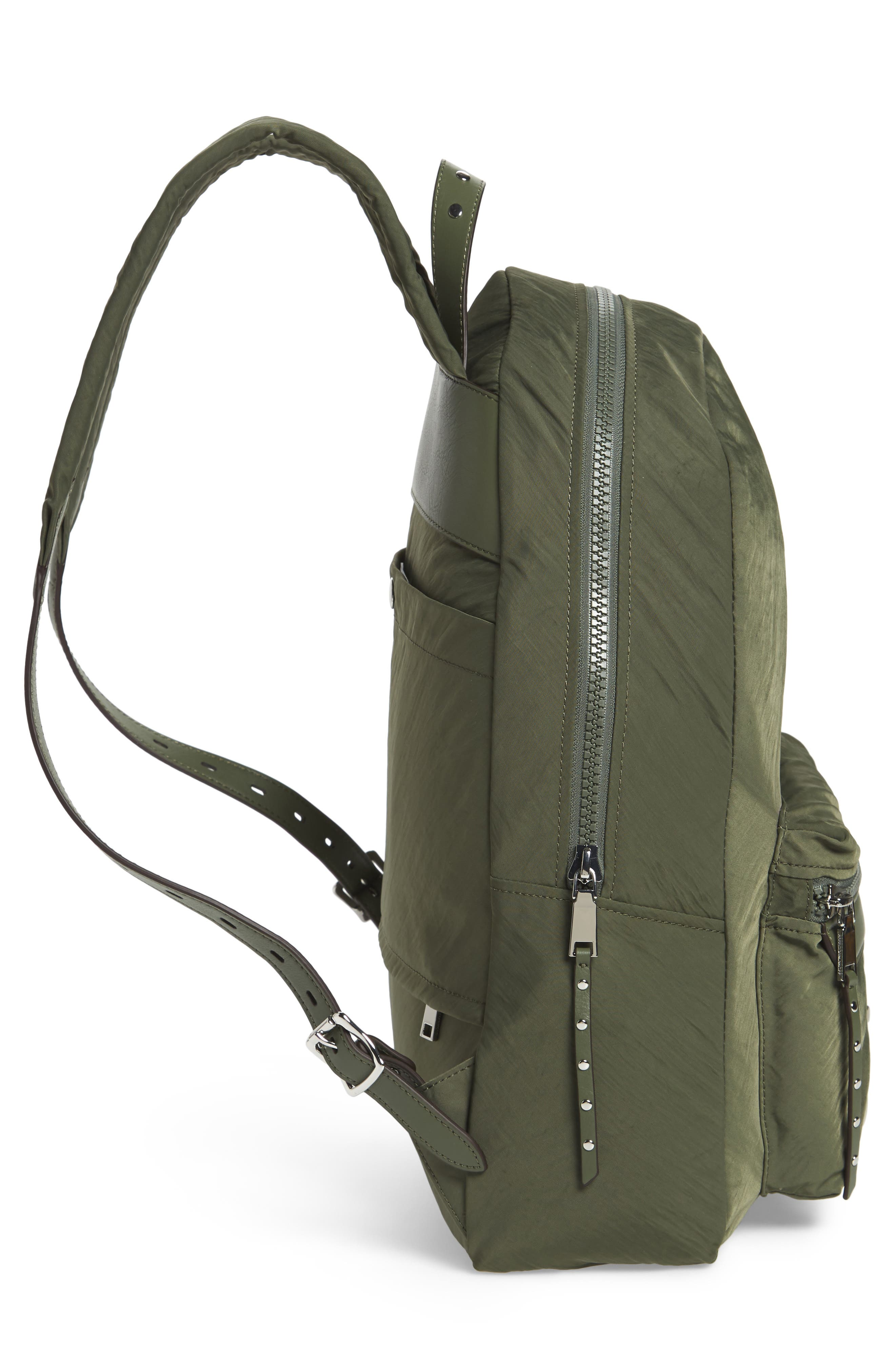 REBECCA MINKOFF, Always On MAB Backpack, Alternate thumbnail 5, color, OLIVE