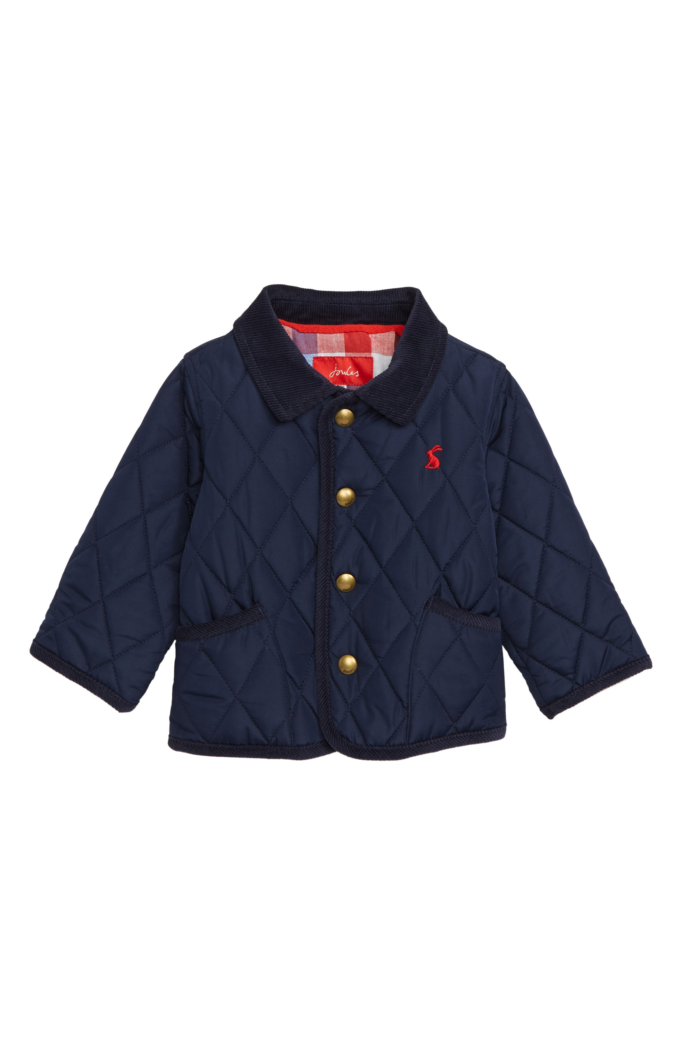 JOULES, Milford Quilted Barn Jacket, Main thumbnail 1, color, FRNAVY