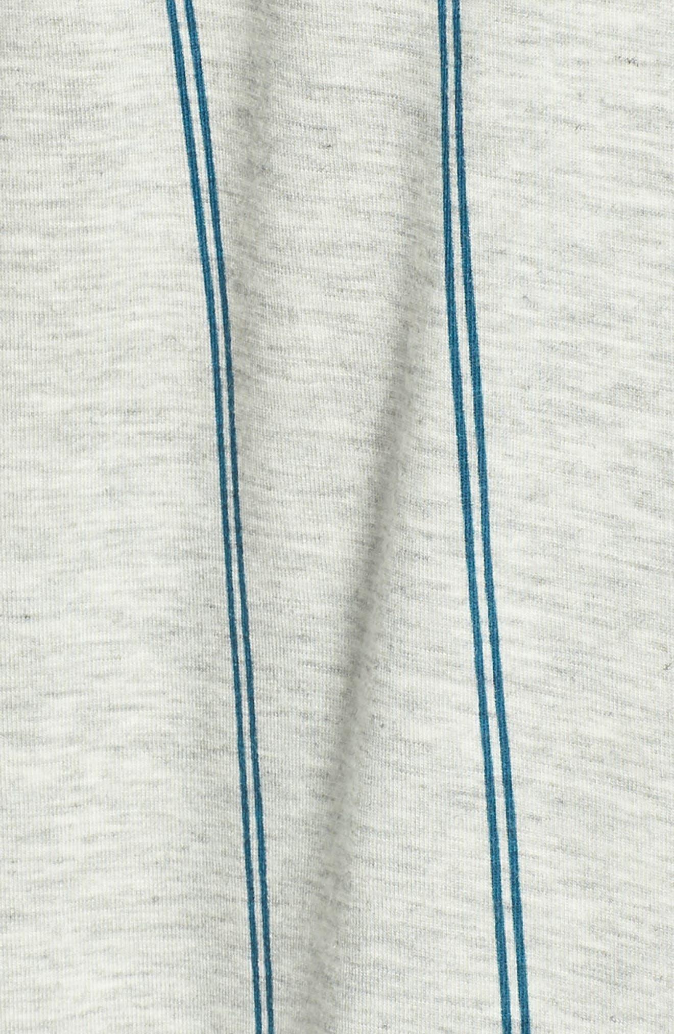NORDSTROM LINGERIE, Moonlight Pajamas, Alternate thumbnail 5, color, GREY PEARL HEATHER MICROSTRIPE