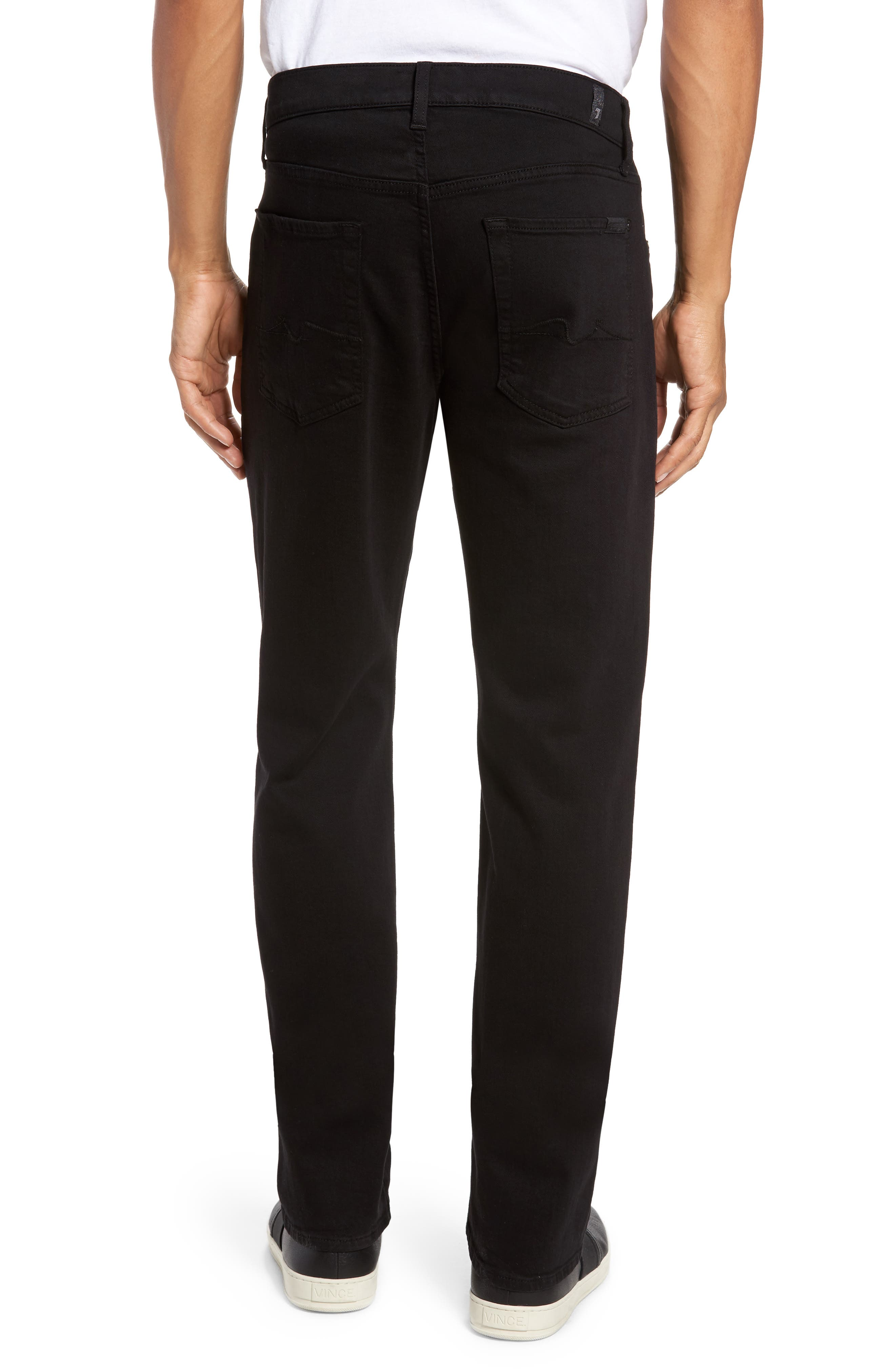 7 FOR ALL MANKIND<SUP>®</SUP>, Luxe Performance - Slimmy Slim Fit Jeans, Alternate thumbnail 2, color, ANNEX BLACK