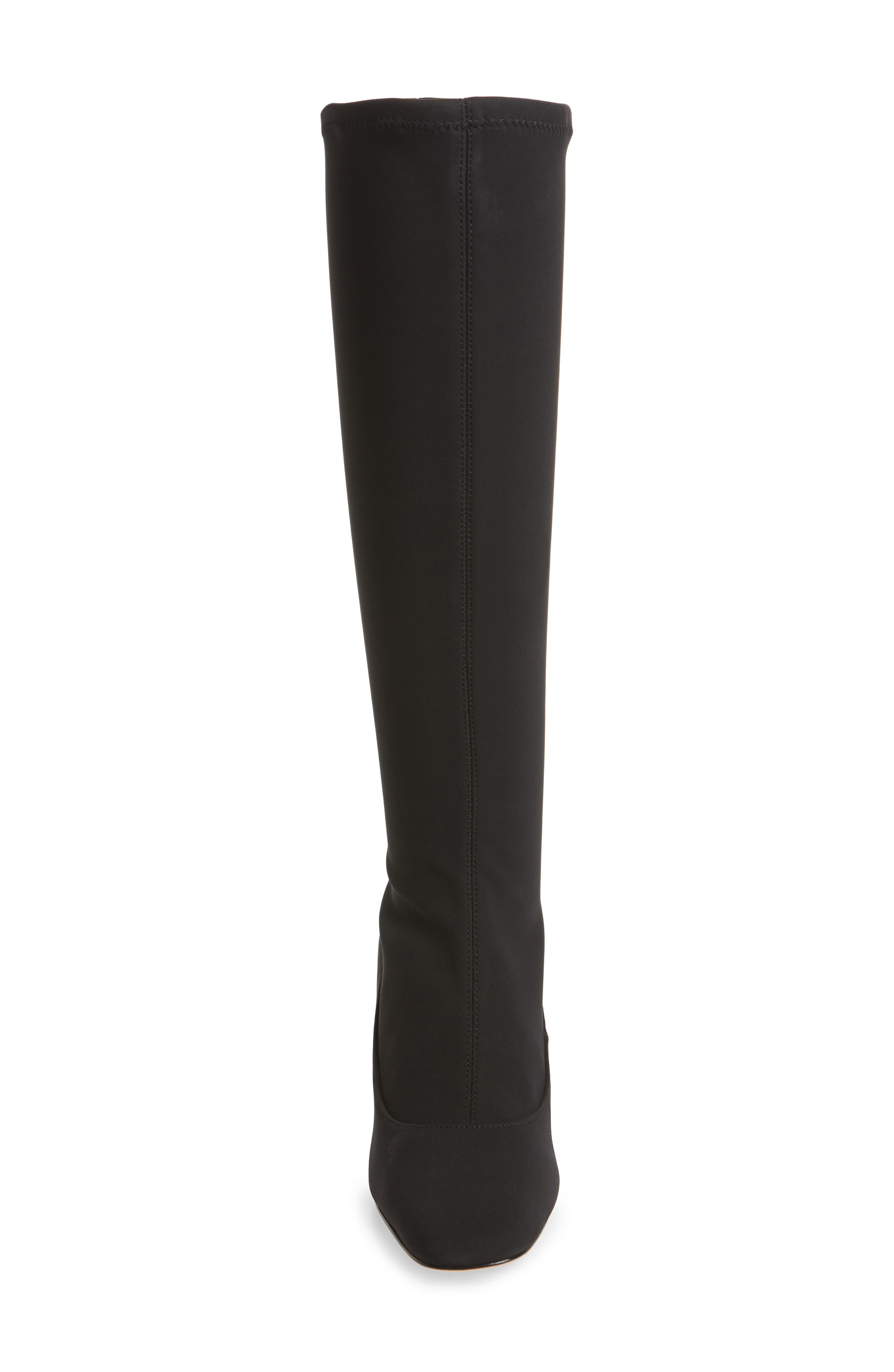 DONALD PLINER, Gerti Knee High Stretch Boot, Alternate thumbnail 4, color, 001