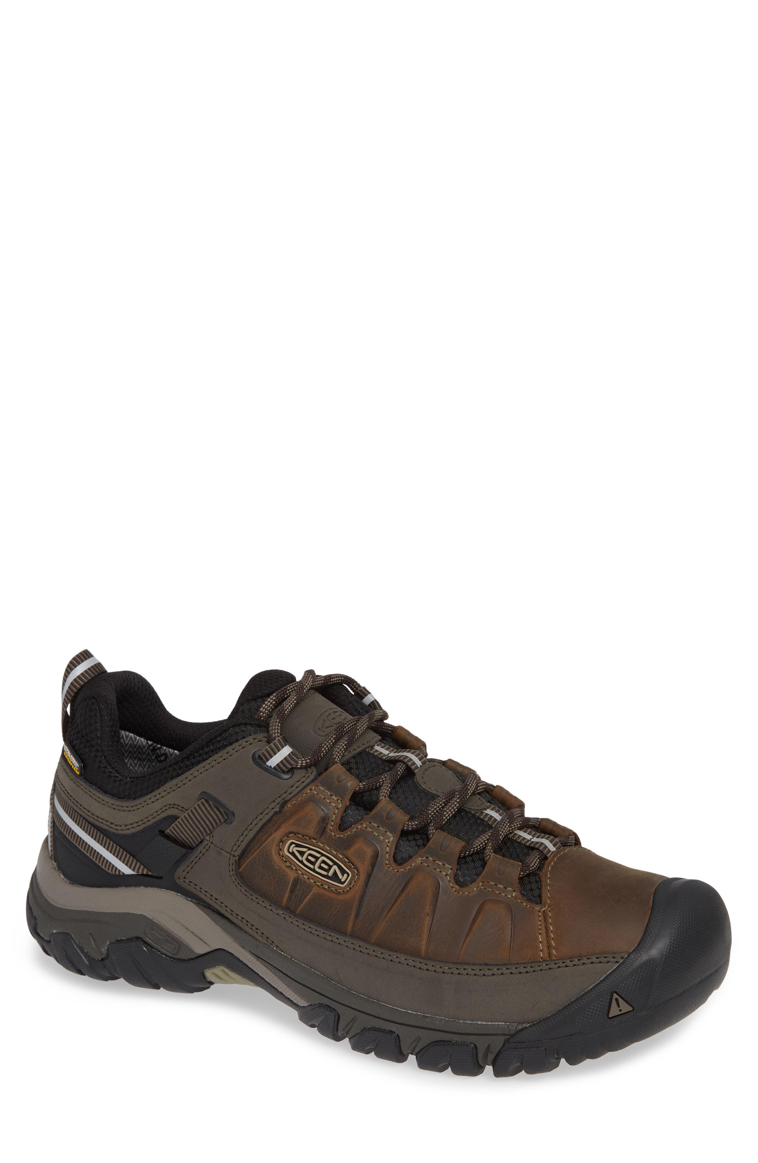 KEEN, Targhee III Waterproof Wide Hiking Shoe, Main thumbnail 1, color, BUNGEE CORD/ BLACK