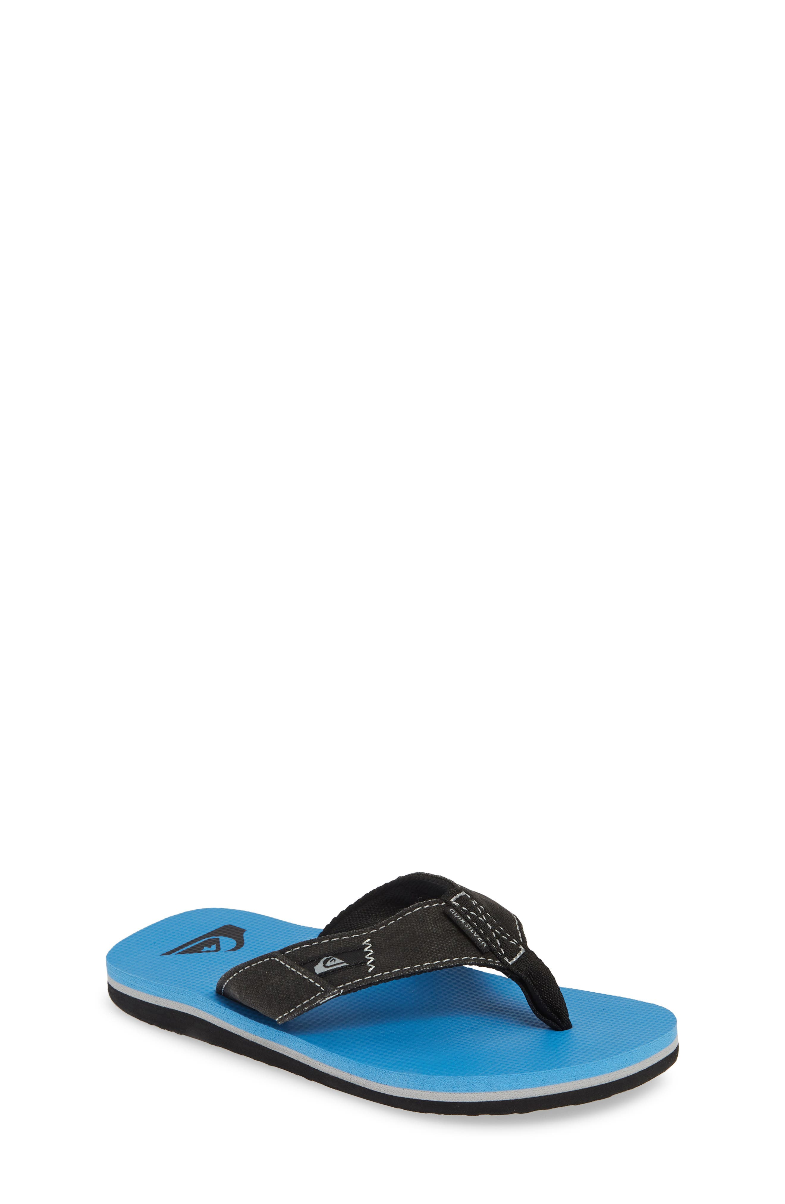 QUIKSILVER, Molokai Abyss Flip Flop, Main thumbnail 1, color, BLACK/ BLUE/ BLACK