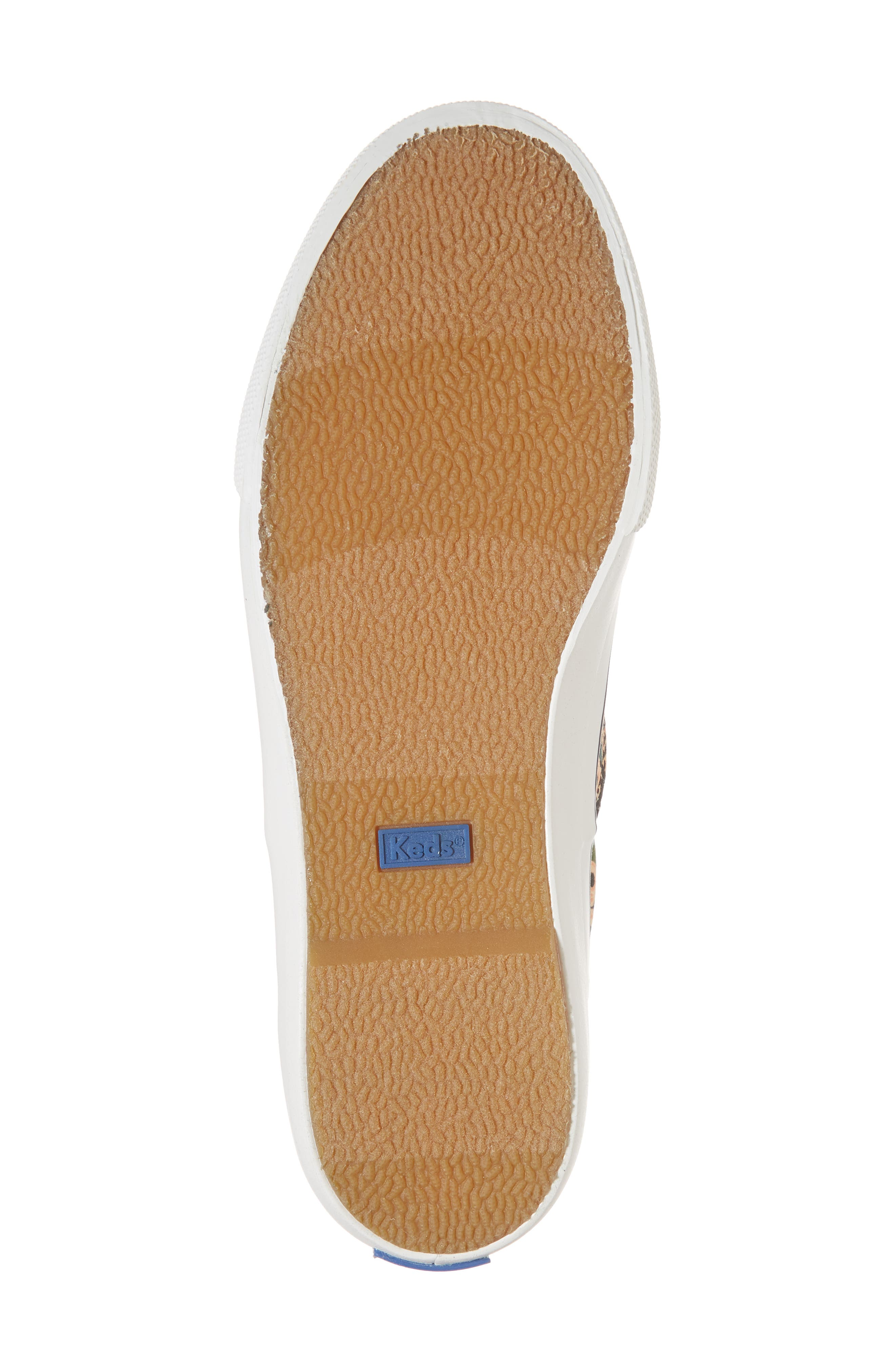 KEDS<SUP>®</SUP>, x Rifle Paper Co. Anchor Lively Floral Slip-On Sneaker, Alternate thumbnail 6, color, BLACK