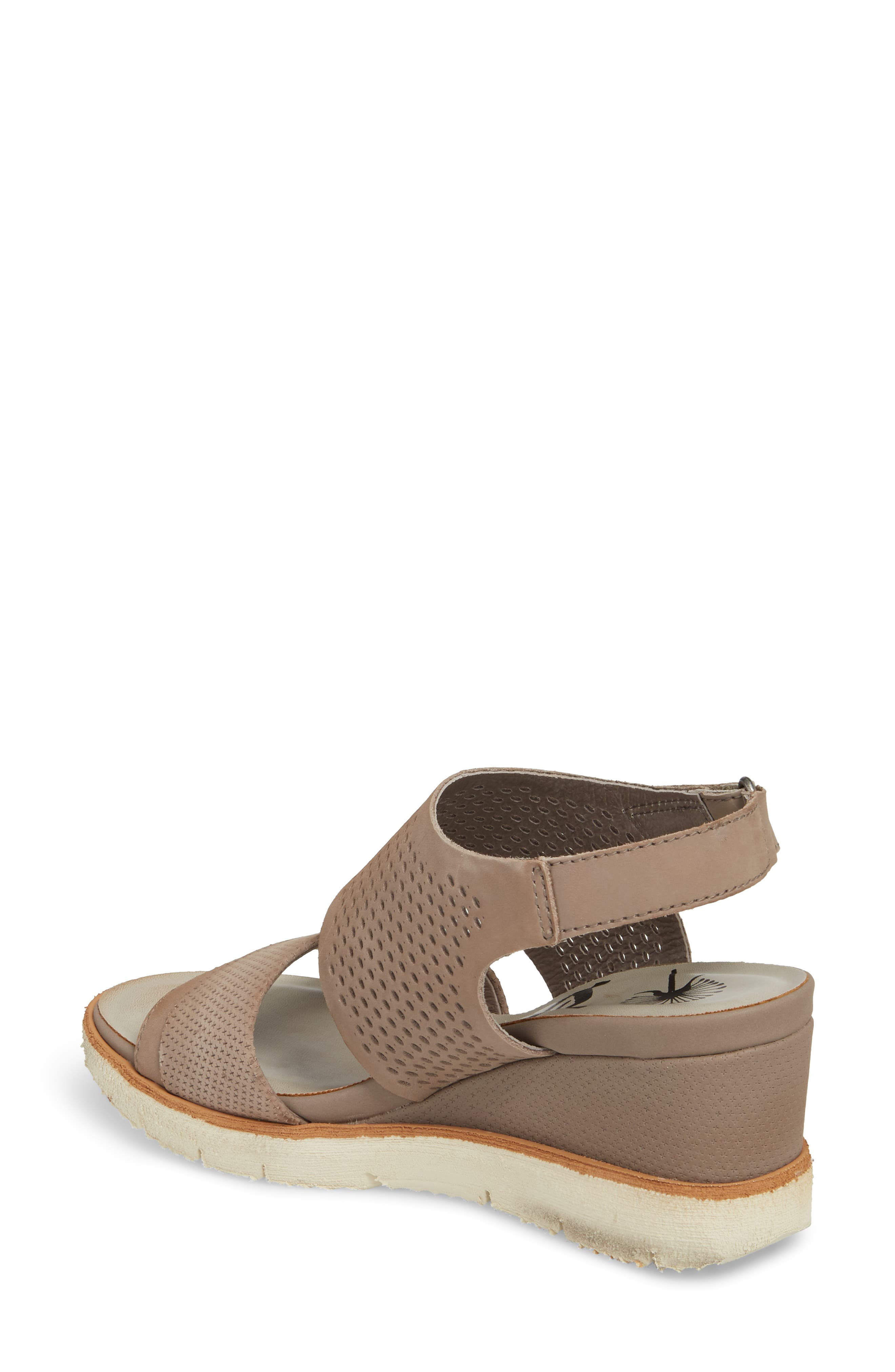 OTBT, Milky Way Wedge Sandal, Alternate thumbnail 2, color, COCOA LEATHER