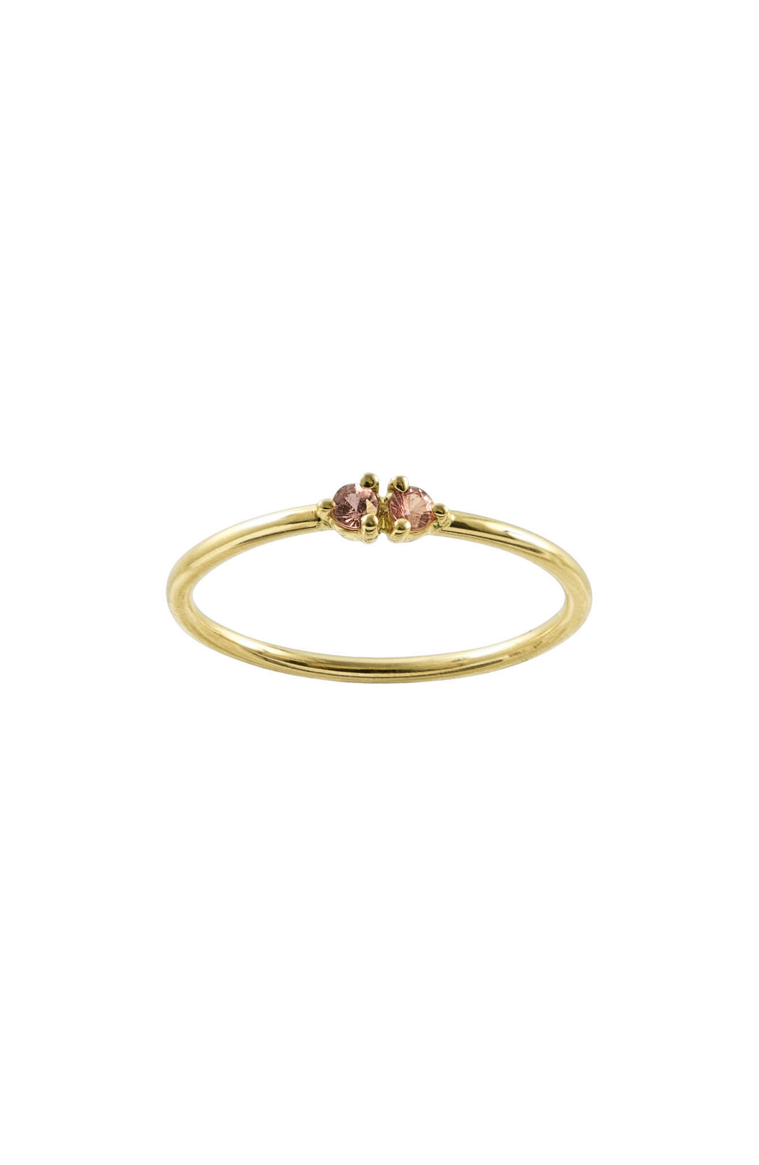 WWAKE, Double Stone Ring, Main thumbnail 1, color, PINK TOURMALINE