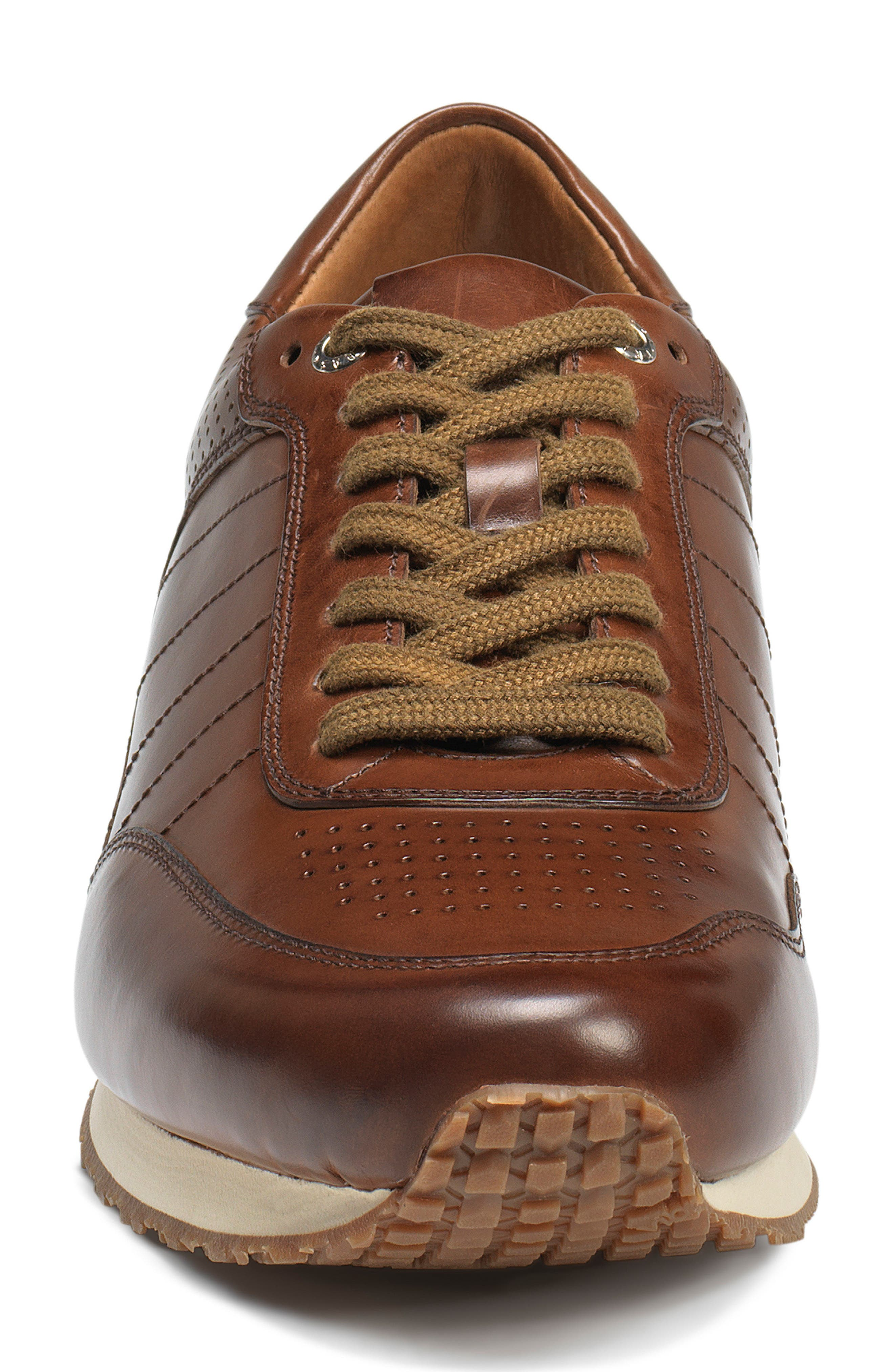TRASK, Aiden Sneaker, Alternate thumbnail 4, color, BROWN LEATHER