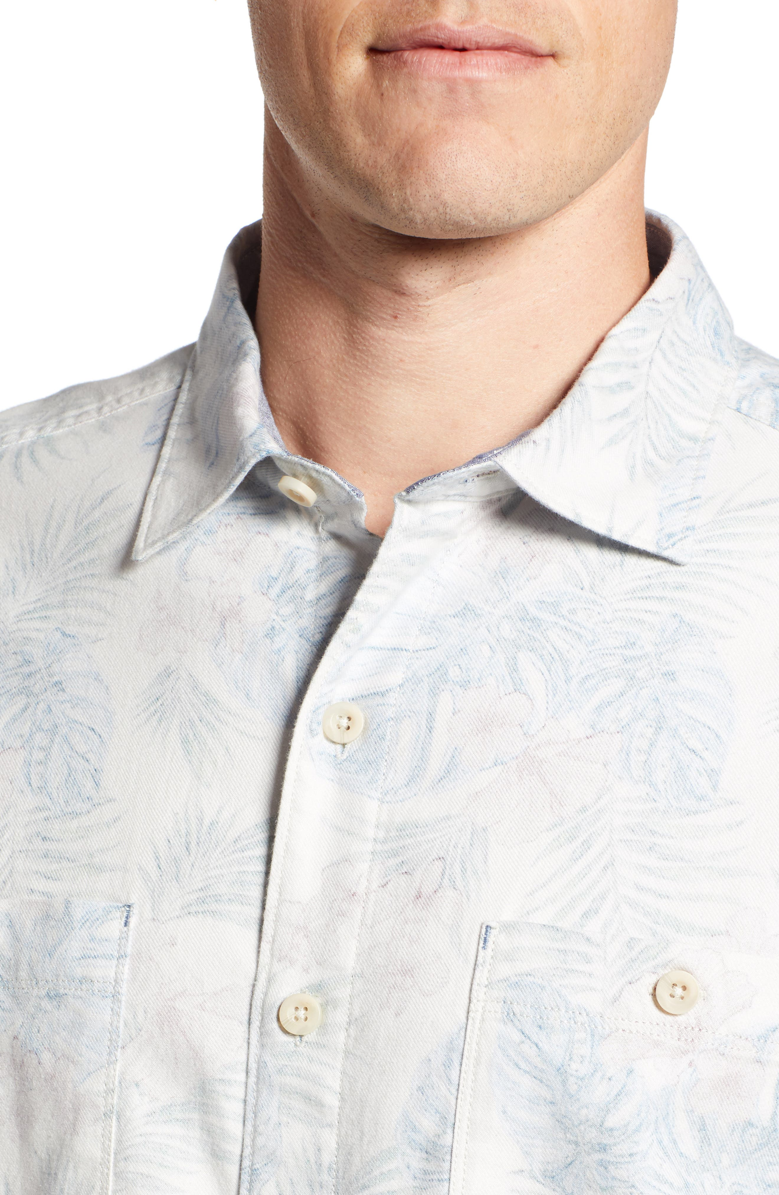 TOMMY BAHAMA, Beach Palms Long Sleeve Flannel Sport Shirt, Alternate thumbnail 4, color, 200