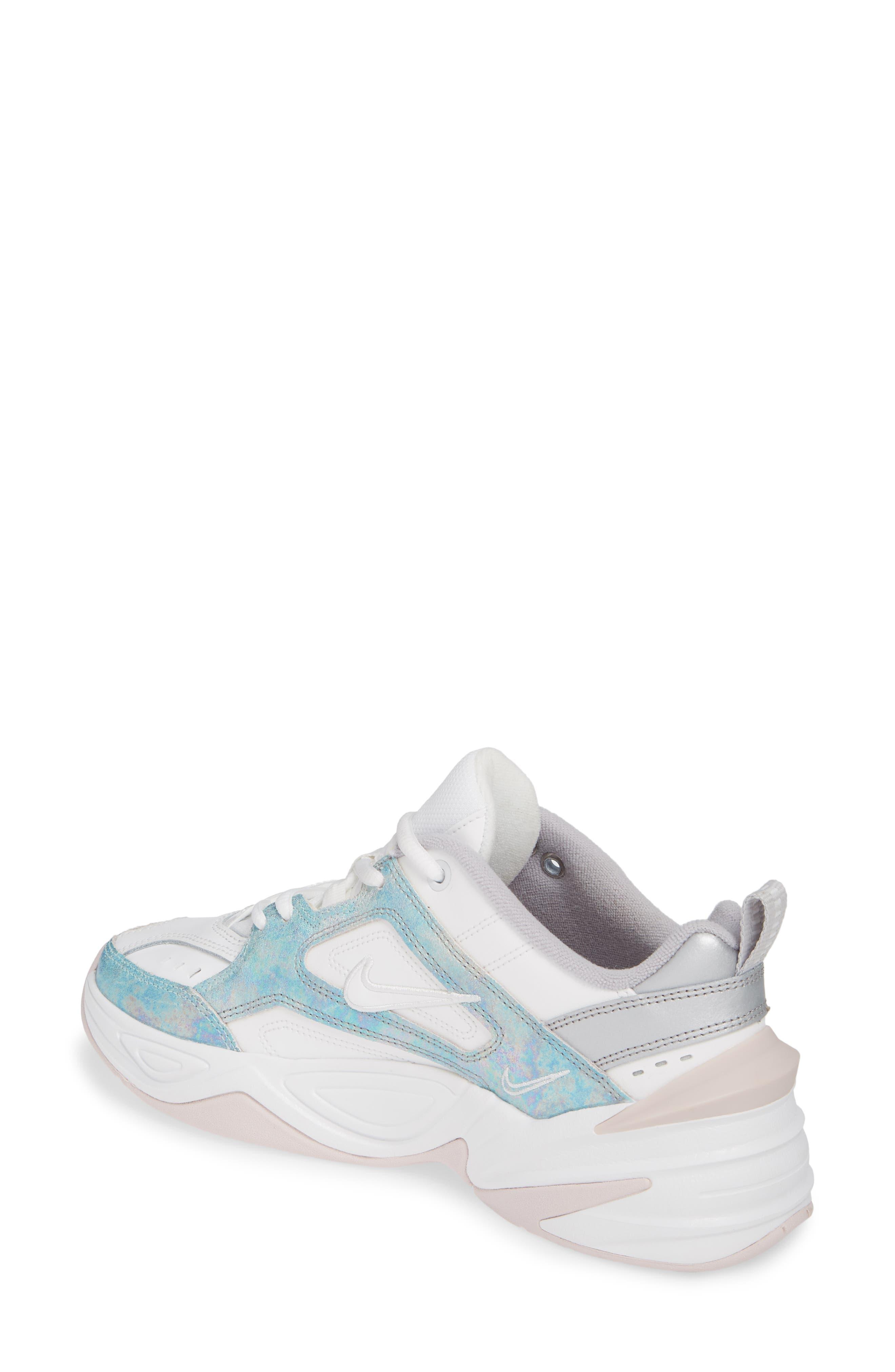NIKE, M2K Tekno Sneaker, Alternate thumbnail 2, color, SUMMIT WHITE/ BARELY ROSE