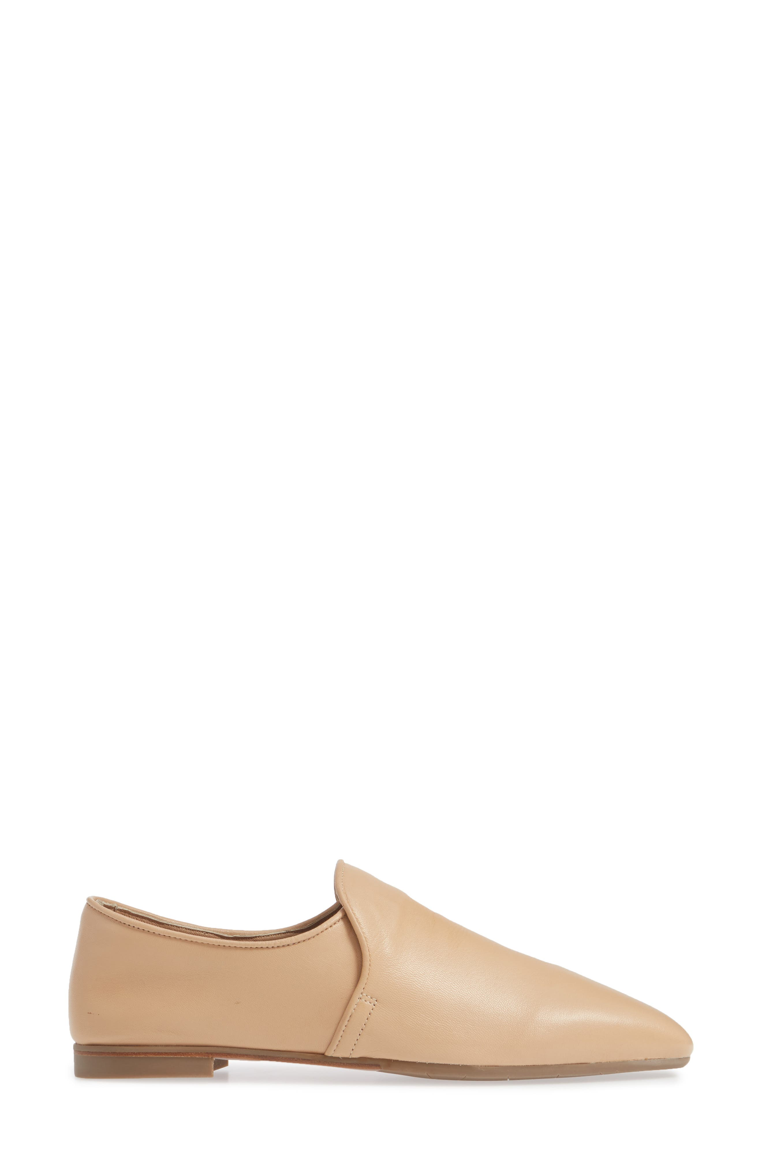 AQUATALIA, Revy Weatherporoof Loafer, Alternate thumbnail 3, color, NUDE NAPPA