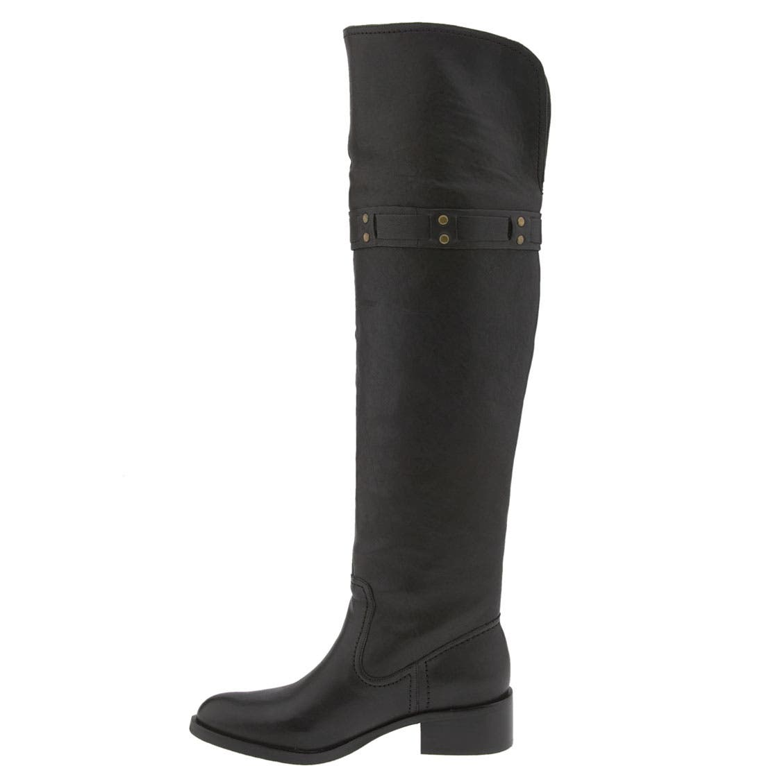 JESSICA SIMPSON, 'Clancey' Over the Knee Boot, Alternate thumbnail 4, color, 001