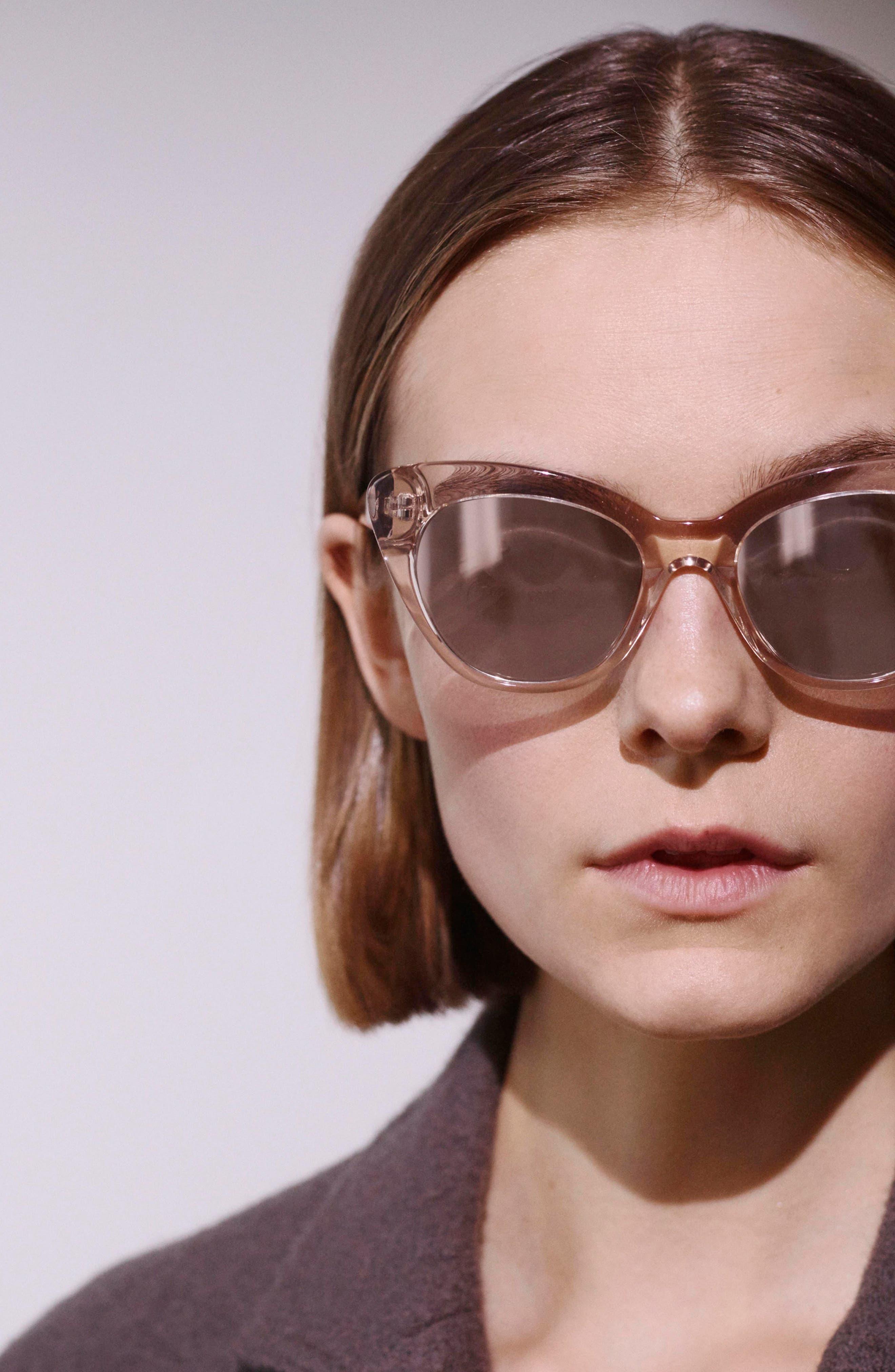 ELIZABETH AND JAMES, Vale 52mm Cat Eye Sunglasses, Alternate thumbnail 4, color, 020