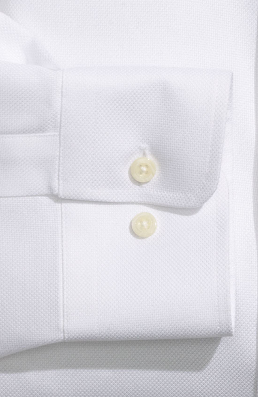 DAVID DONAHUE, Regular Fit Oxford Dress Shirt, Alternate thumbnail 9, color, WHITE