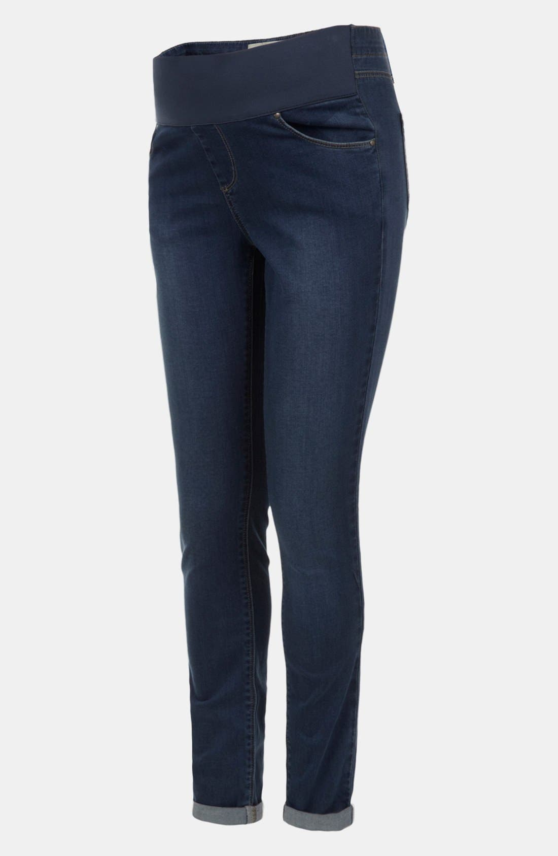 TOPSHOP 'Leigh' Maternity Jeans, Main, color, 420