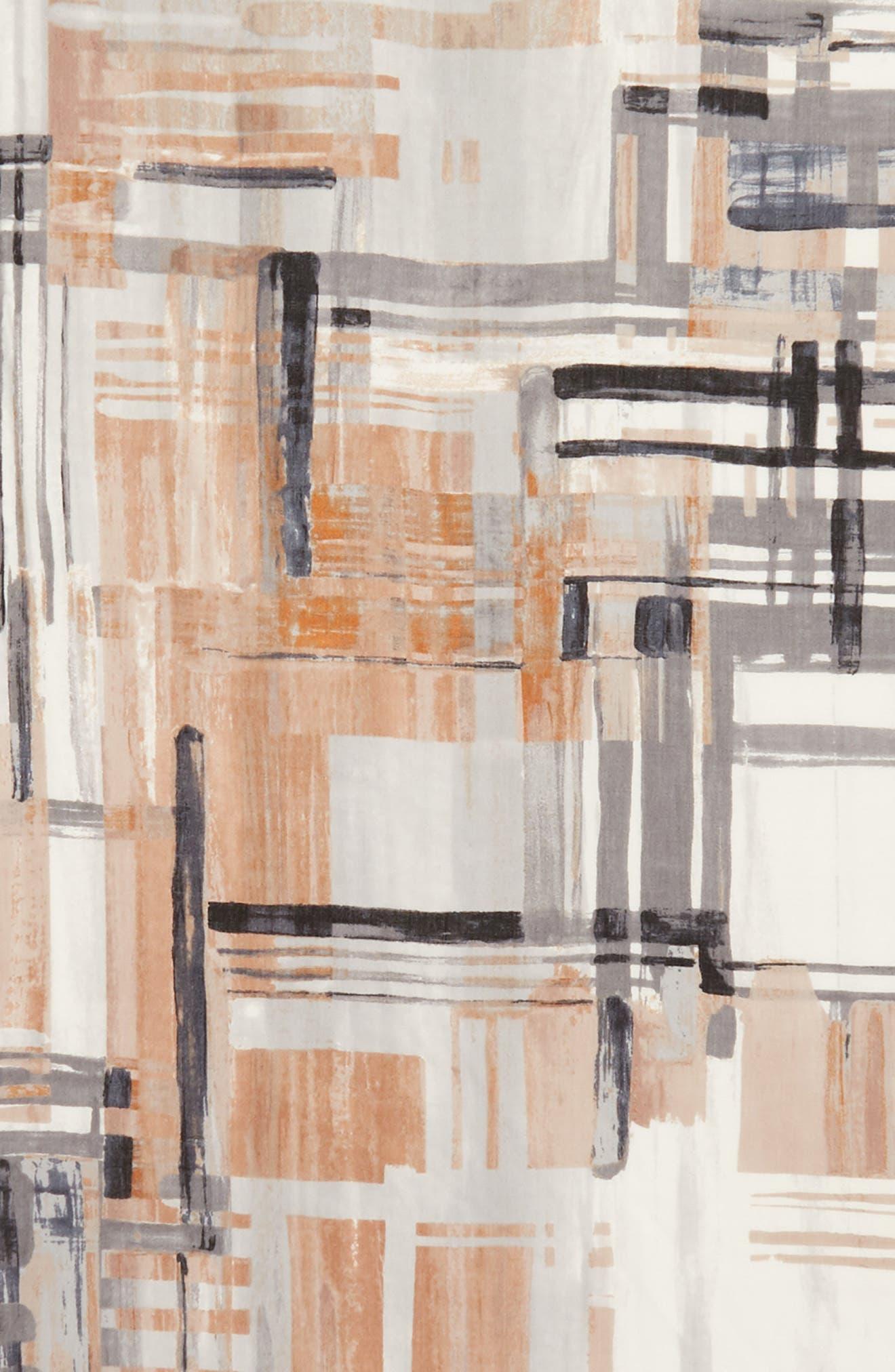 NORDSTROM, Eyelash Trim Print Cashmere & Silk Wrap, Alternate thumbnail 4, color, 001