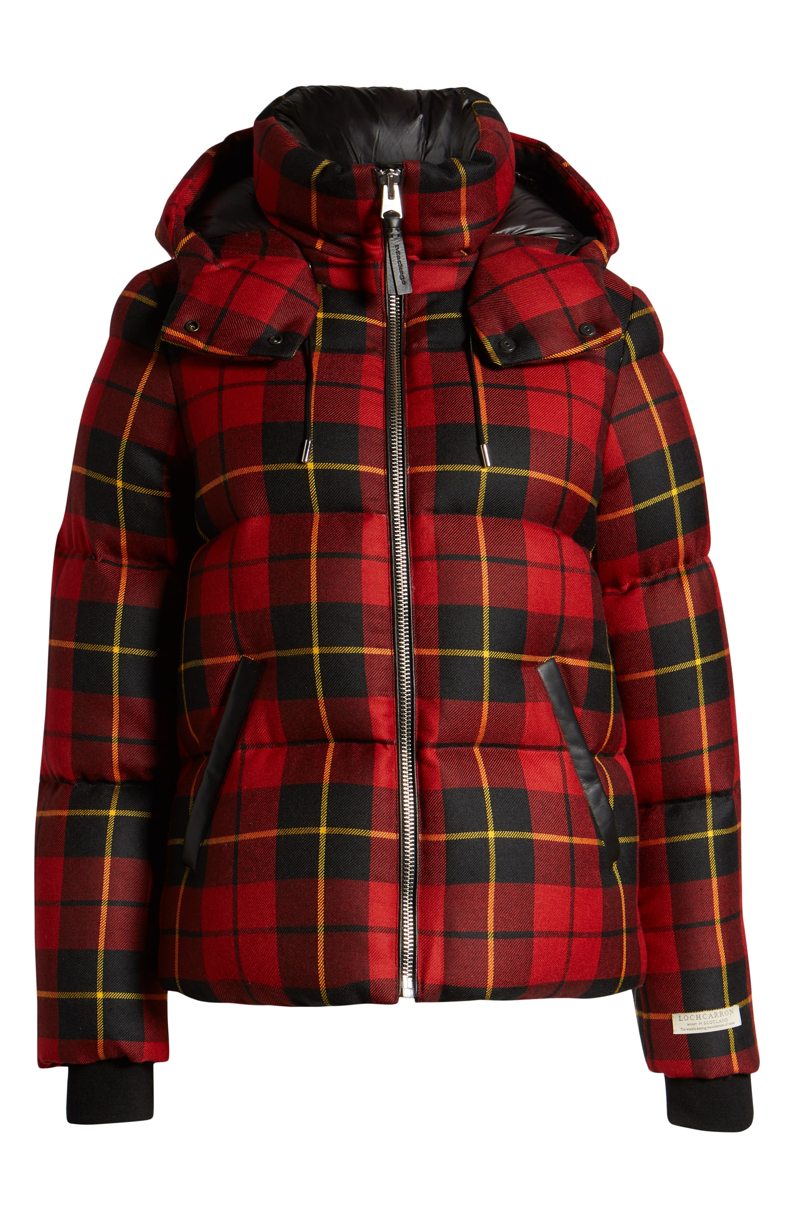MACKAGE, Miley Wool Down Puffer Jacket, Alternate thumbnail 5, color, RED