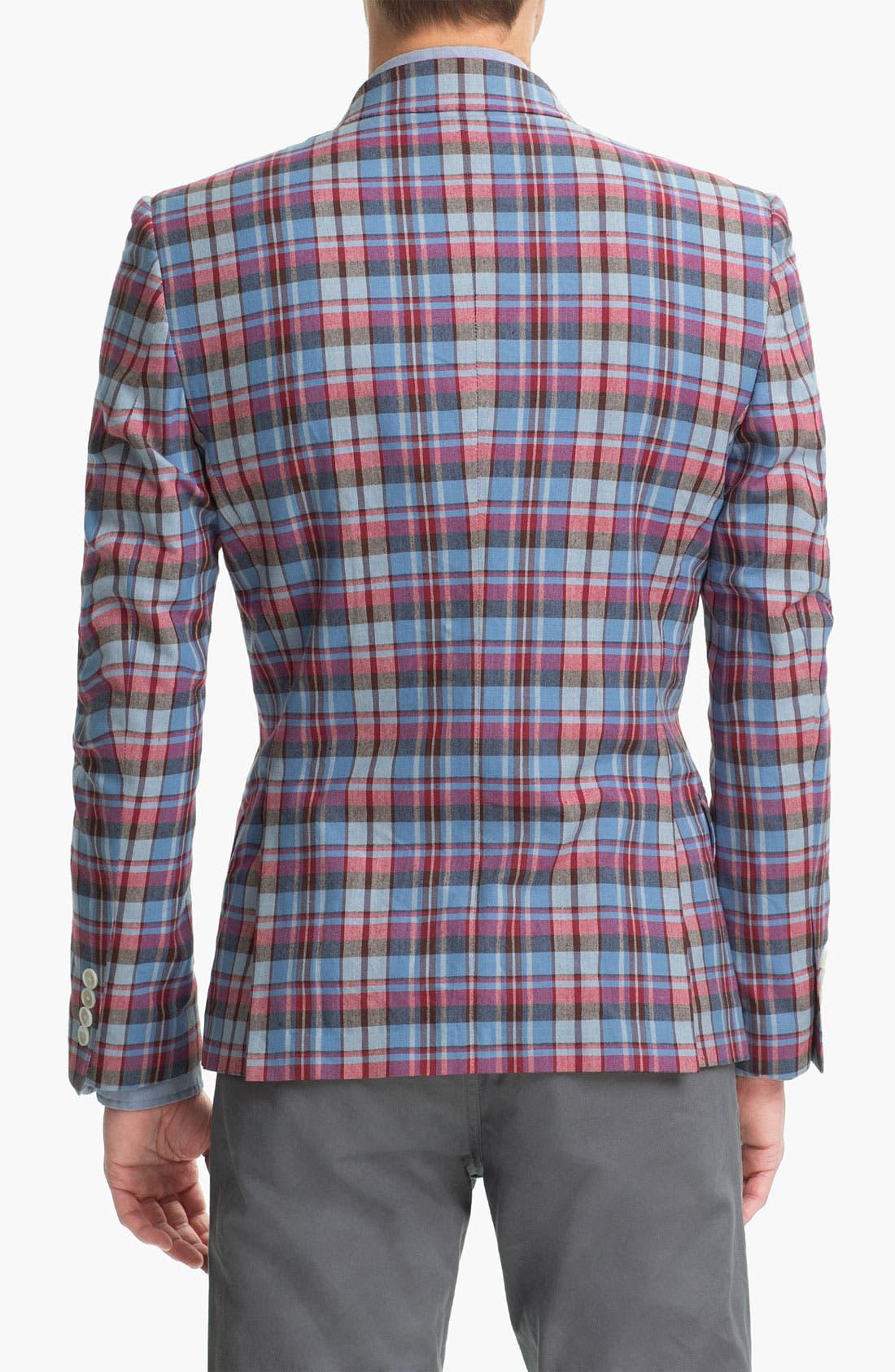 JOHN W. NORDSTROM<SUP>®</SUP>, Madras Cotton Sportcoat, Alternate thumbnail 2, color, 600