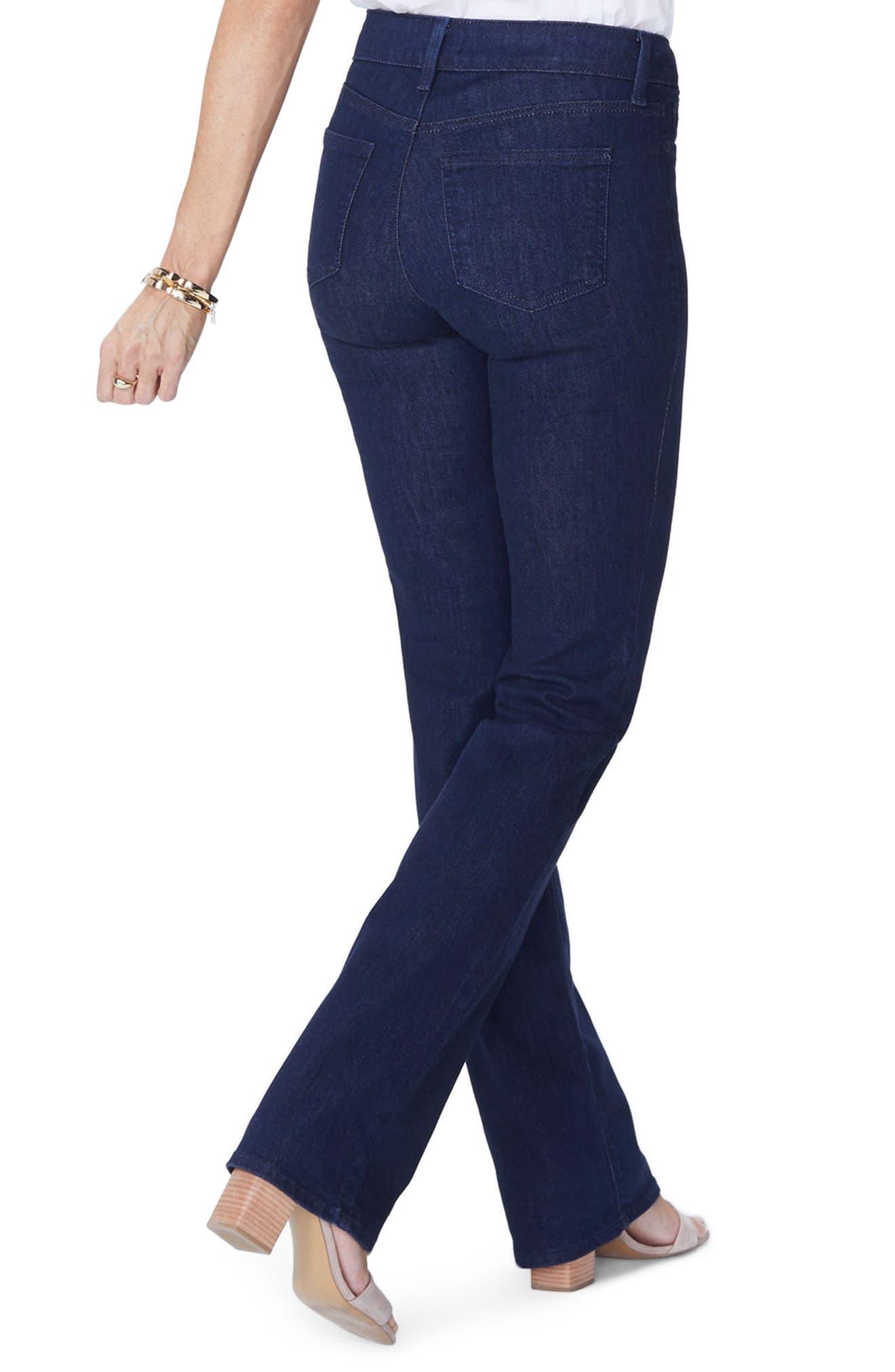 NYDJ, Barbara High Waist Stretch Bootcut Jeans, Alternate thumbnail 2, color, RINSE