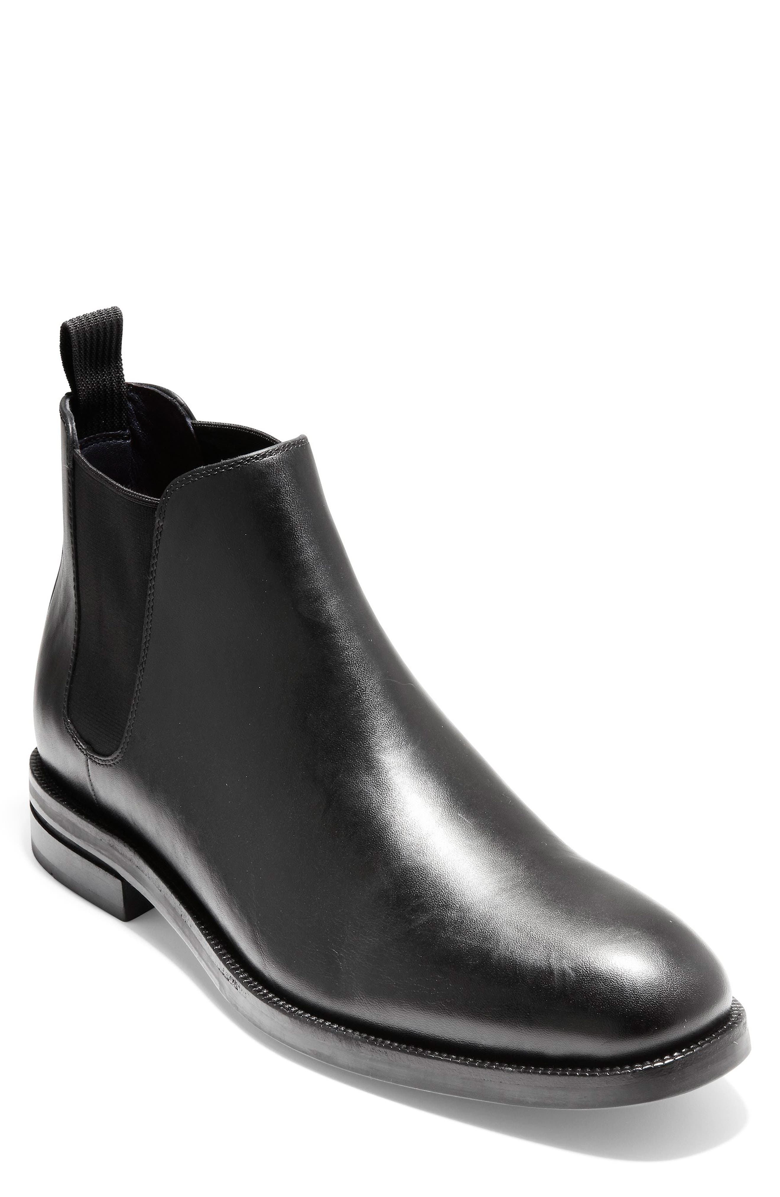 COLE HAAN, Wakefield Grand Chelsea Boot, Main thumbnail 1, color, BLACK LEATHER
