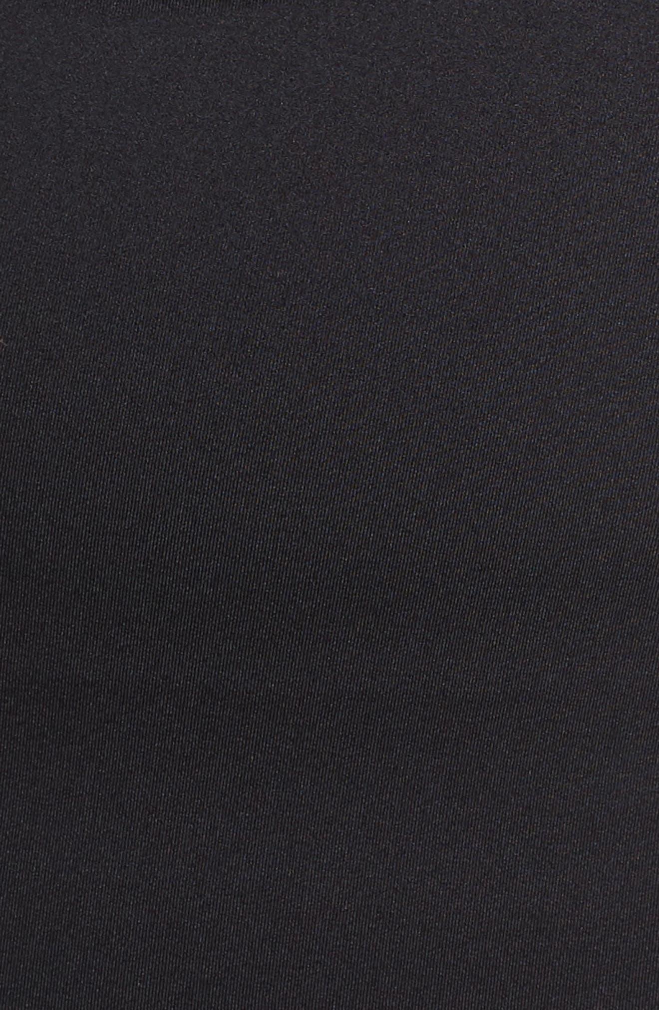 NIKE, Crossback Tankini Top, Alternate thumbnail 6, color, BLACK