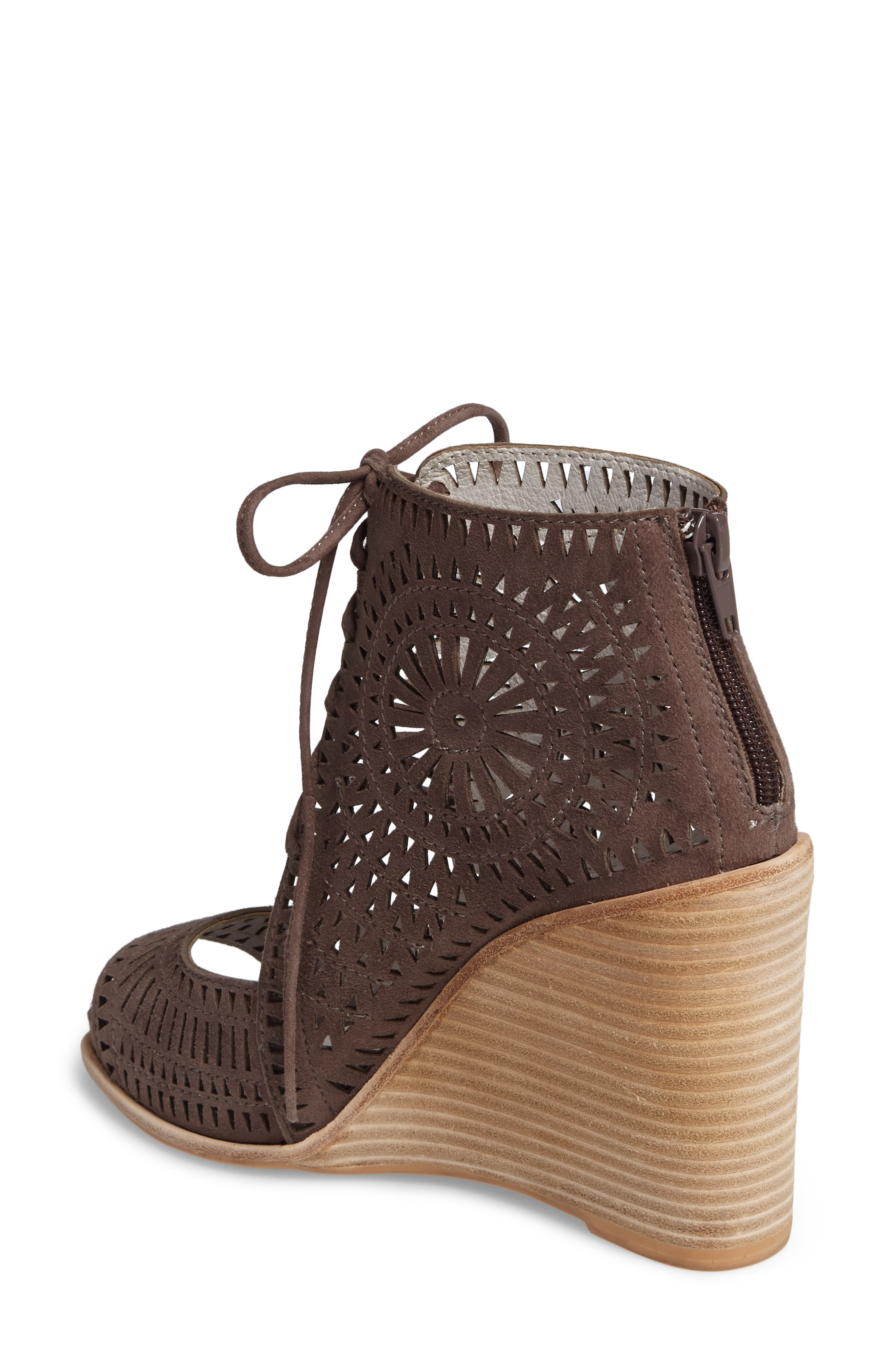 JEFFREY CAMPBELL, Rayos Perforated Wedge Sandal, Alternate thumbnail 2, color, 200