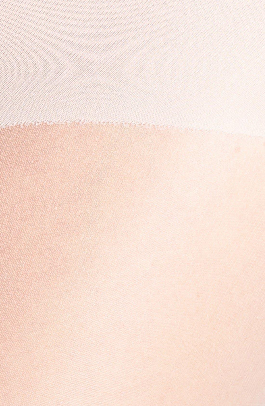 DONNA KARAN NEW YORK, Donna Karan The Nudes Toeless Pantyhose, Alternate thumbnail 2, color, A01