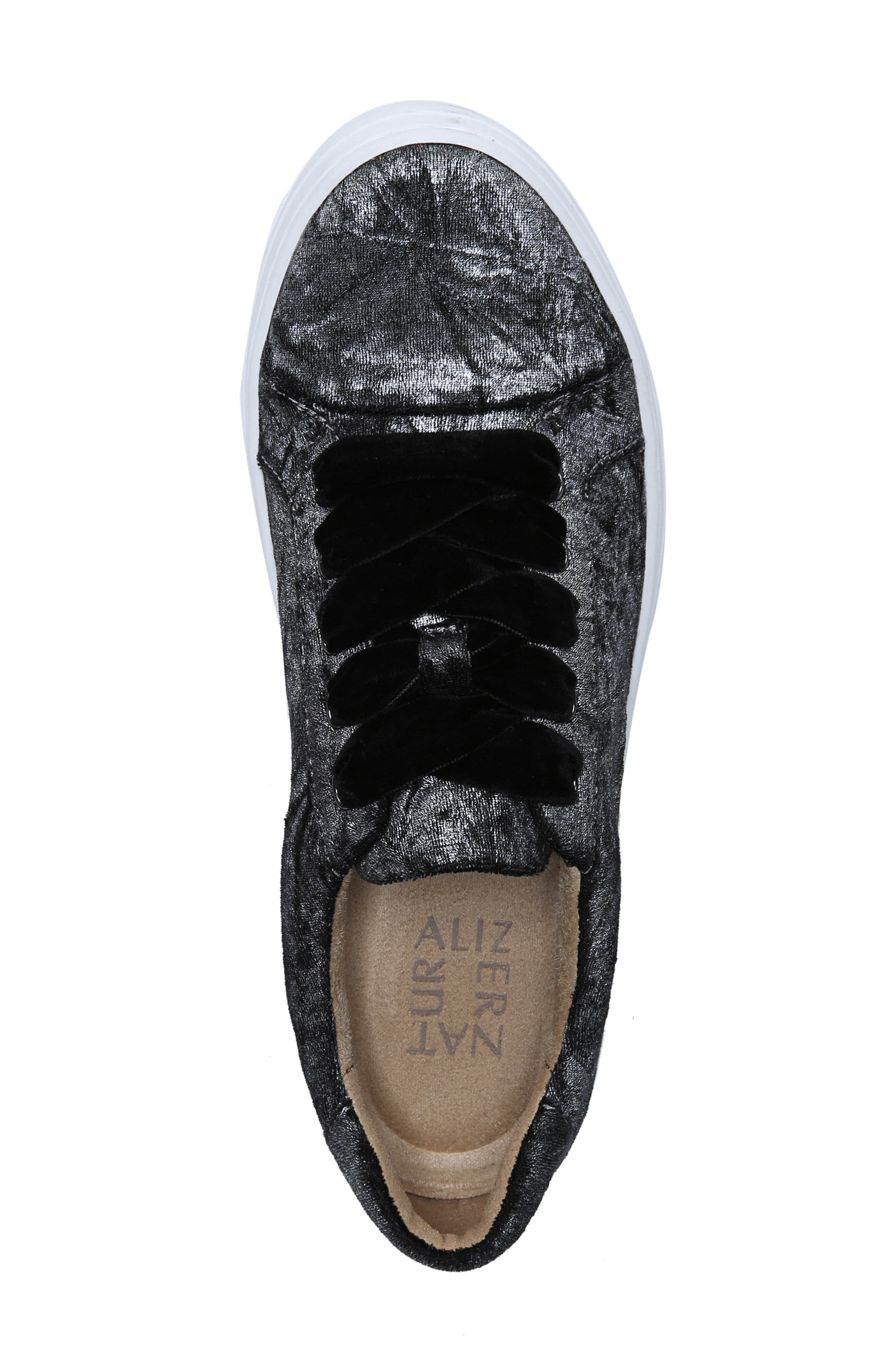 NATURALIZER, Cairo Sneaker, Alternate thumbnail 5, color, PEWTER VELVET