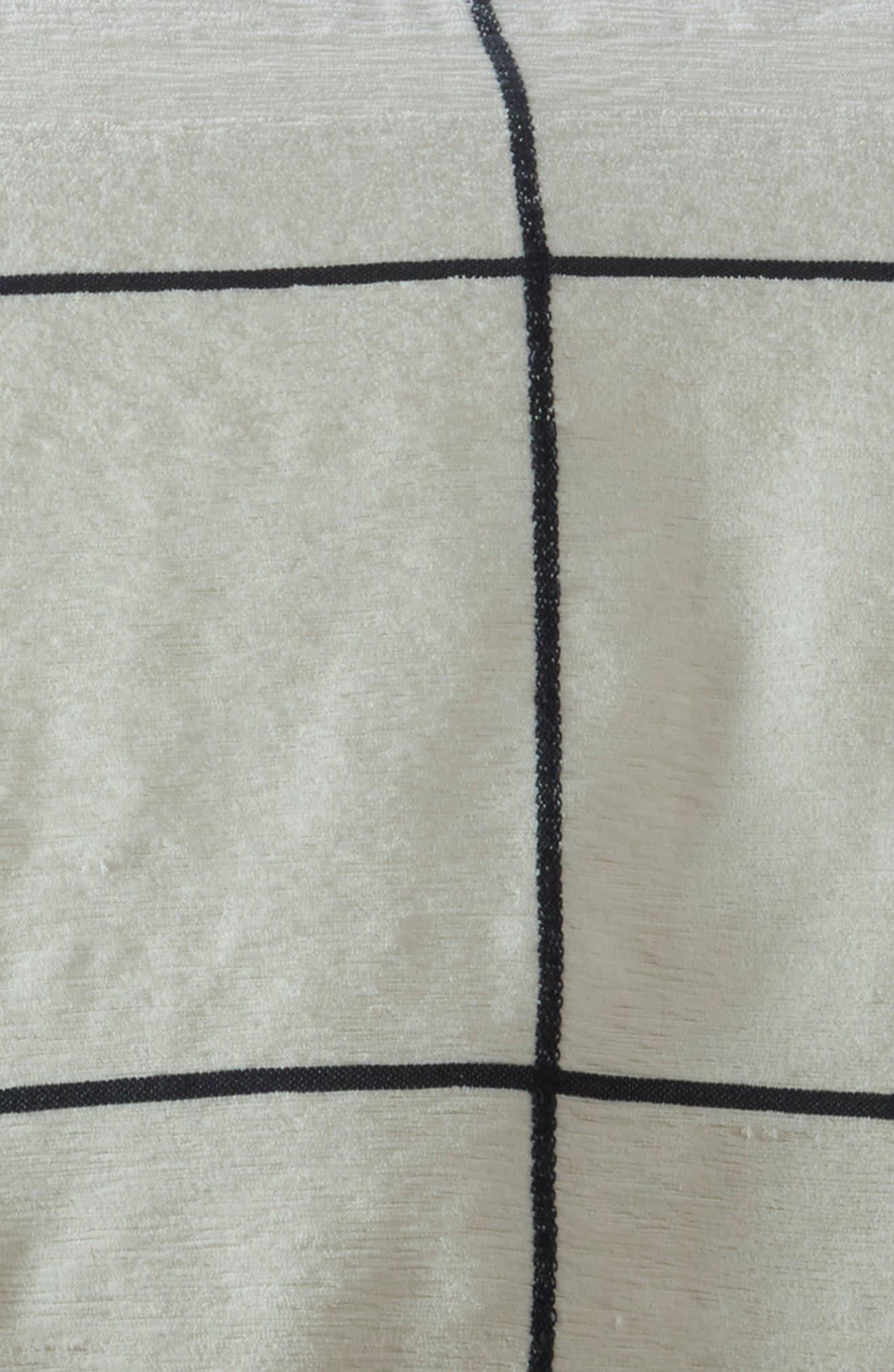 TREASURE & BOND, Grid Duvet Cover, Alternate thumbnail 3, color, IVORY