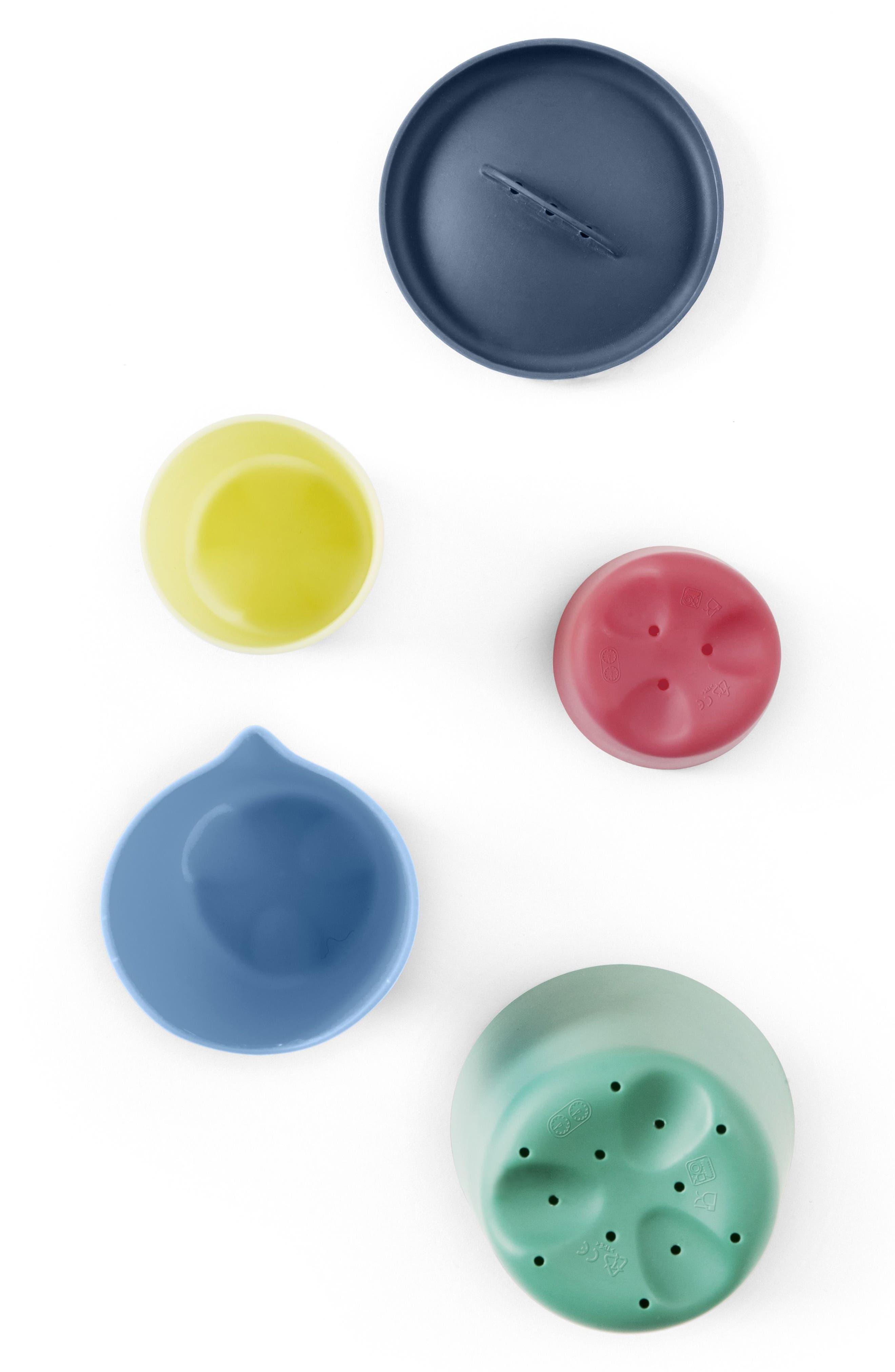 STOKKE, Flexi Bath<sup>®</sup> 5-Piece Toy Cups Set, Alternate thumbnail 4, color, 300