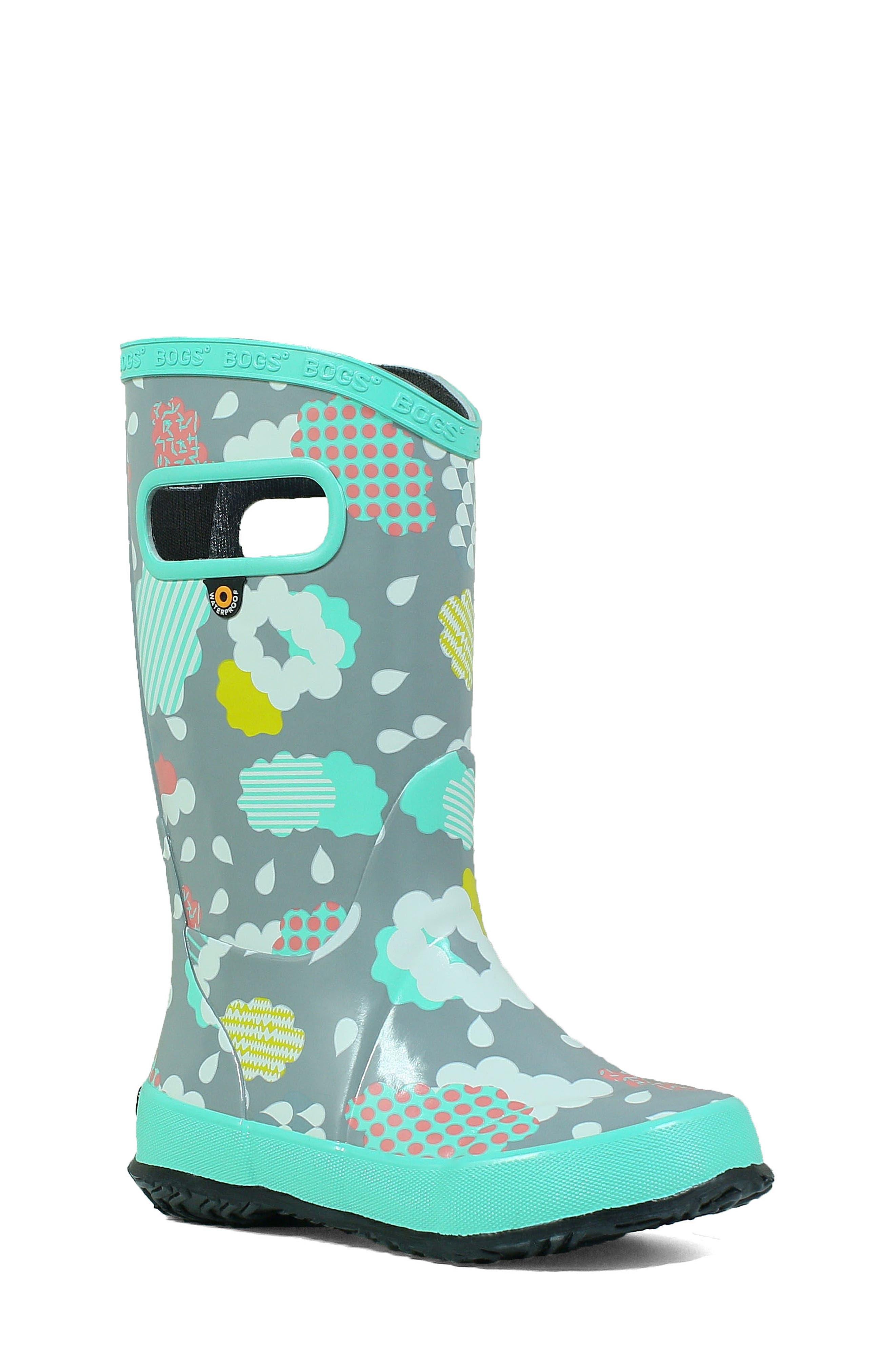 BOGS, Clouds Waterproof Rain Boot, Main thumbnail 1, color, 062