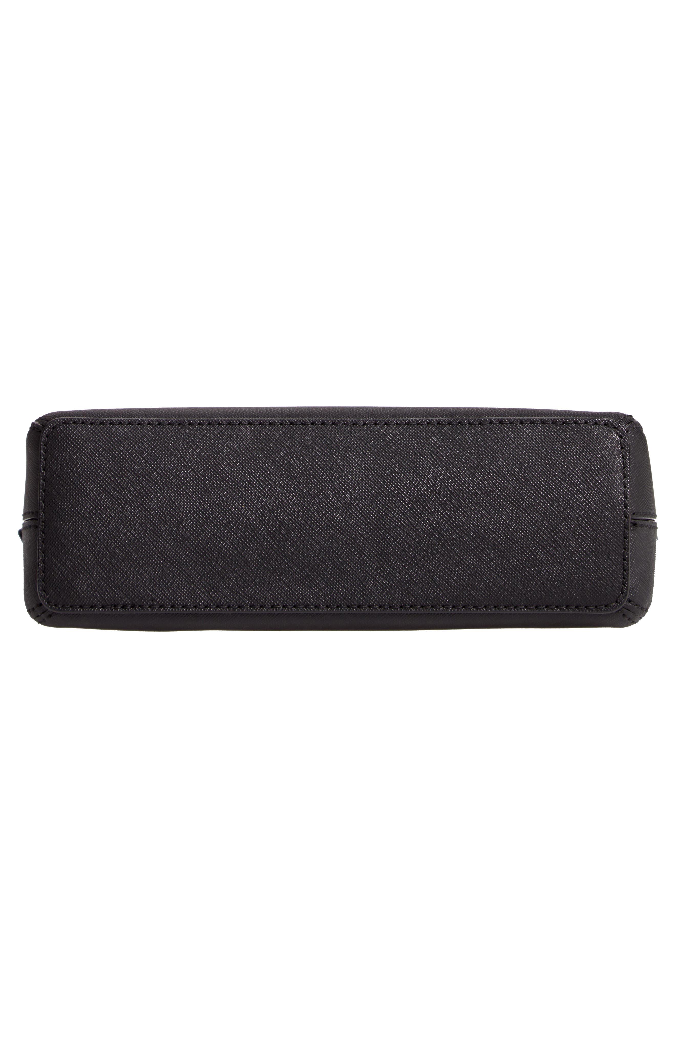 KATE SPADE NEW YORK, cameron street large hilli leather crossbody bag, Alternate thumbnail 6, color, 001