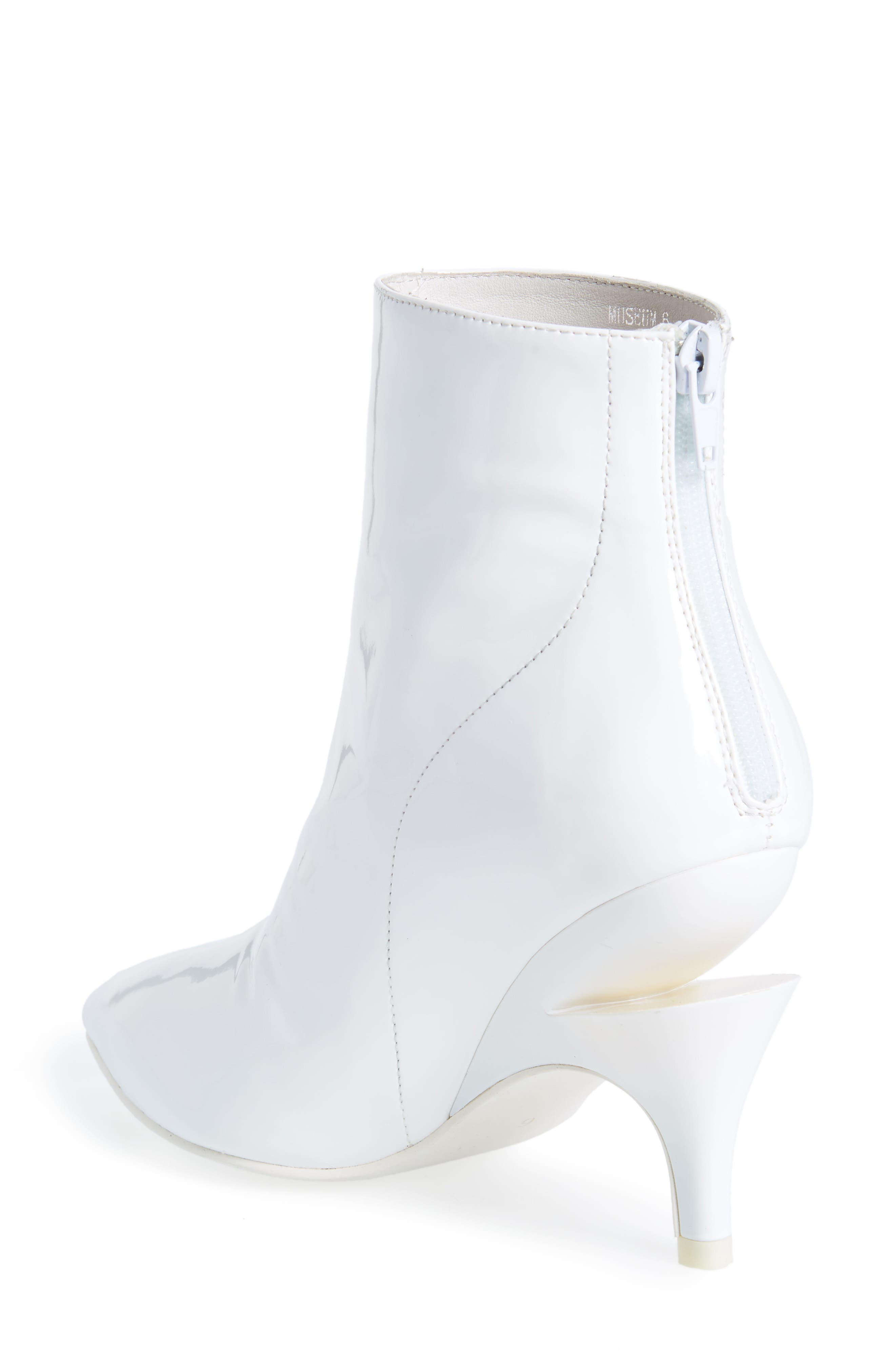 JEFFREY CAMPBELL, Museum Bootie, Alternate thumbnail 2, color, WHITE PATENT LEATHER