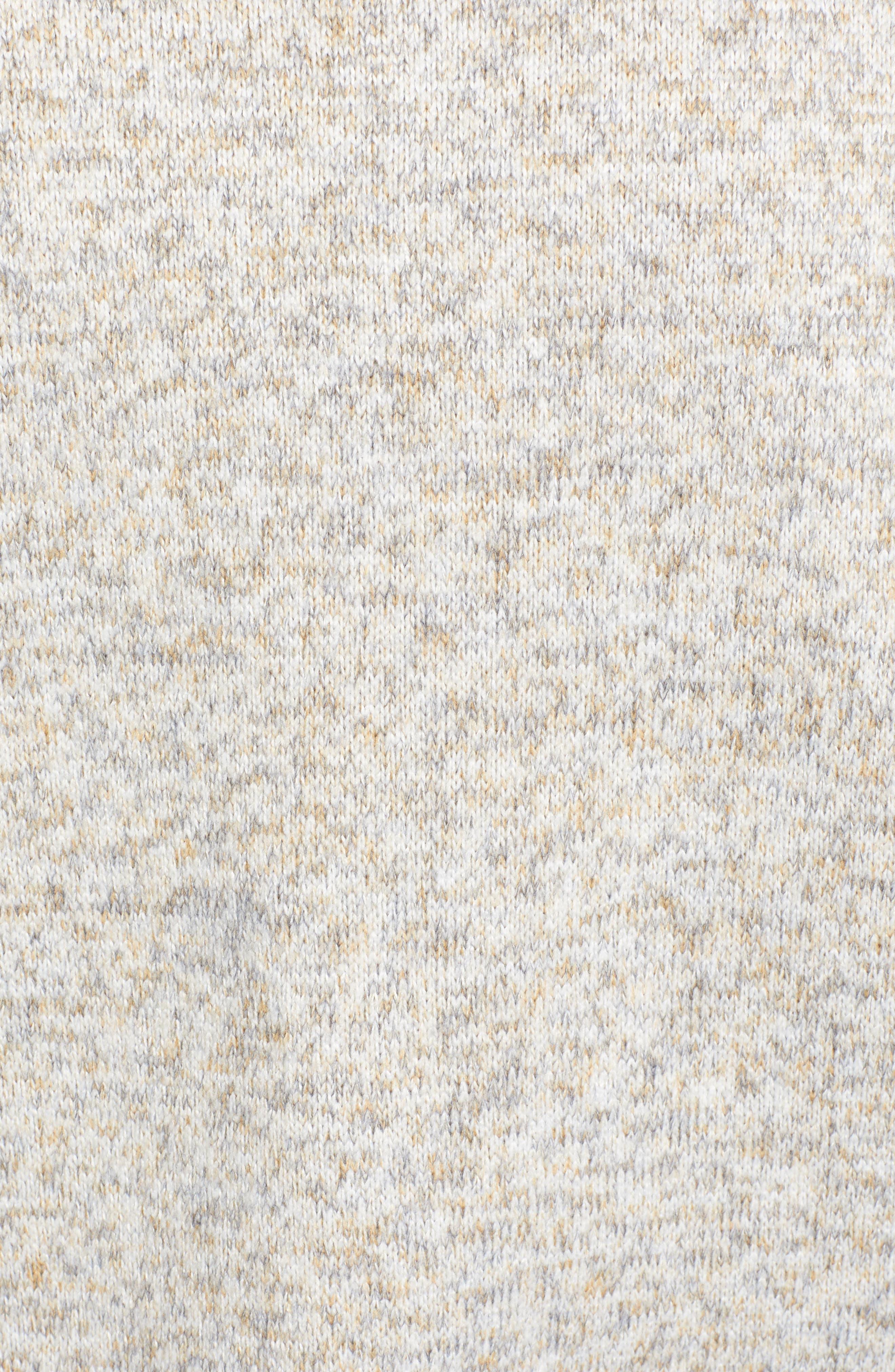 THREAD & SUPPLY, Madison Fleece Jacket, Alternate thumbnail 5, color, HEATHER OATMEAL