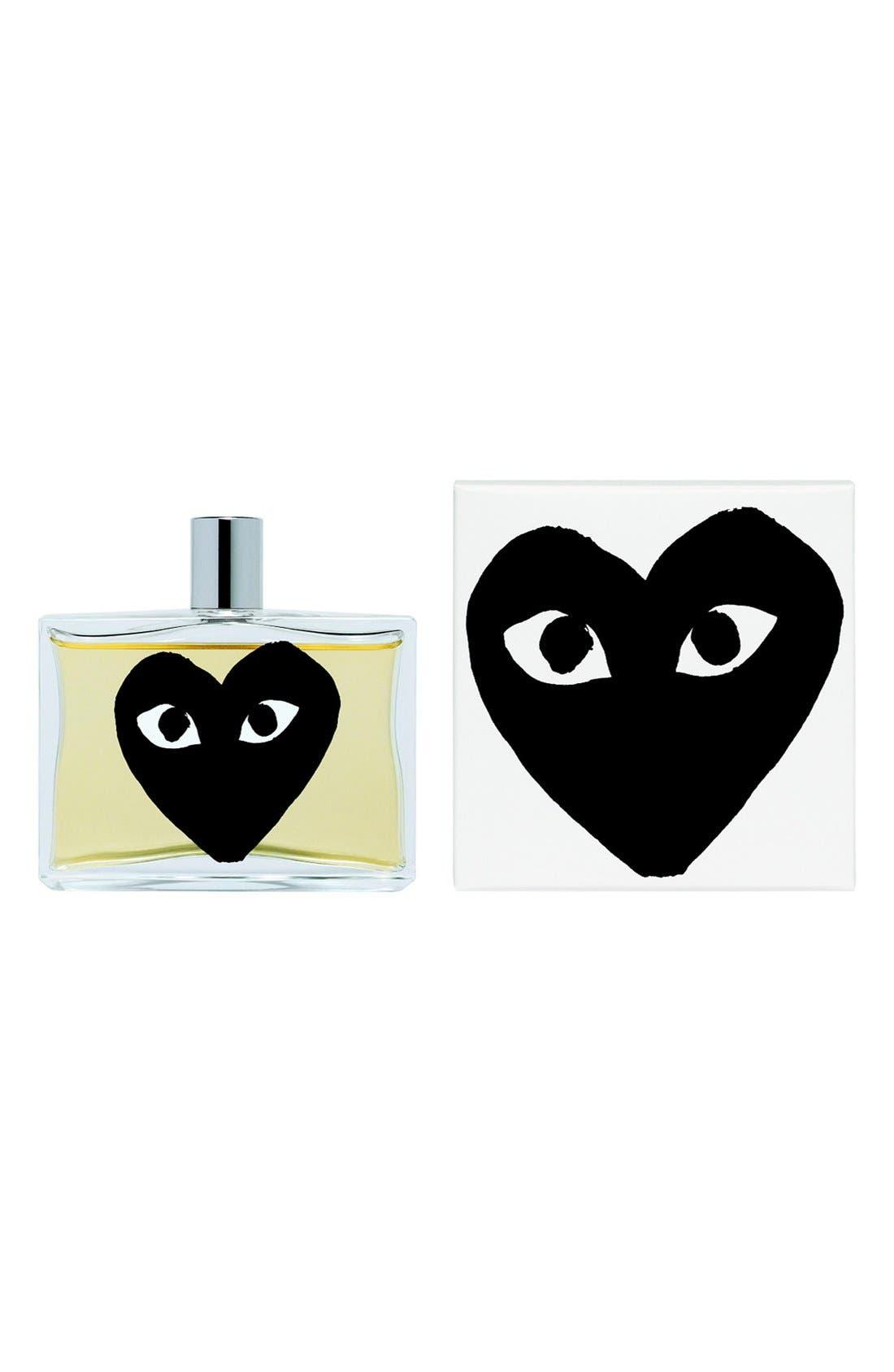 COMME DES GARÇONS, PLAY Black Eau de Parfum, Main thumbnail 1, color, BLACK