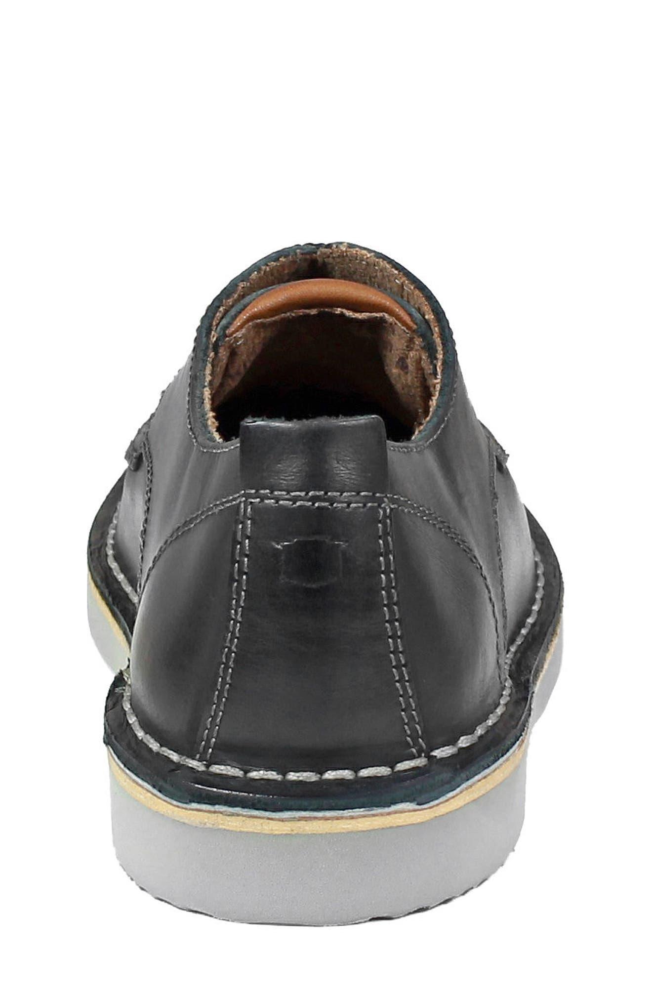 FLORSHEIM, Navigator JR Plain Toe Oxford, Alternate thumbnail 8, color, BLACK LEATHER