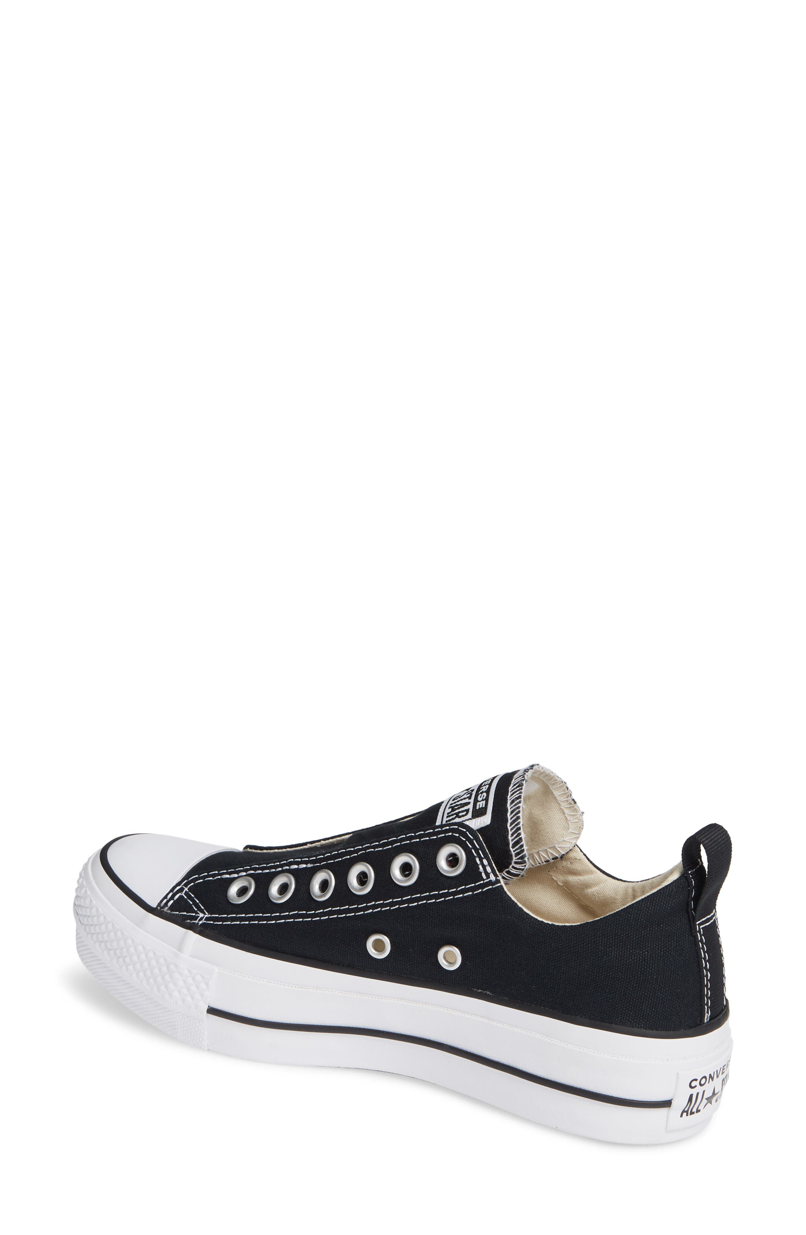 CONVERSE, Chuck Taylor<sup>®</sup> All Star<sup>®</sup> Low Top Sneaker, Alternate thumbnail 2, color, BLACK/ WHITE/ BLACK