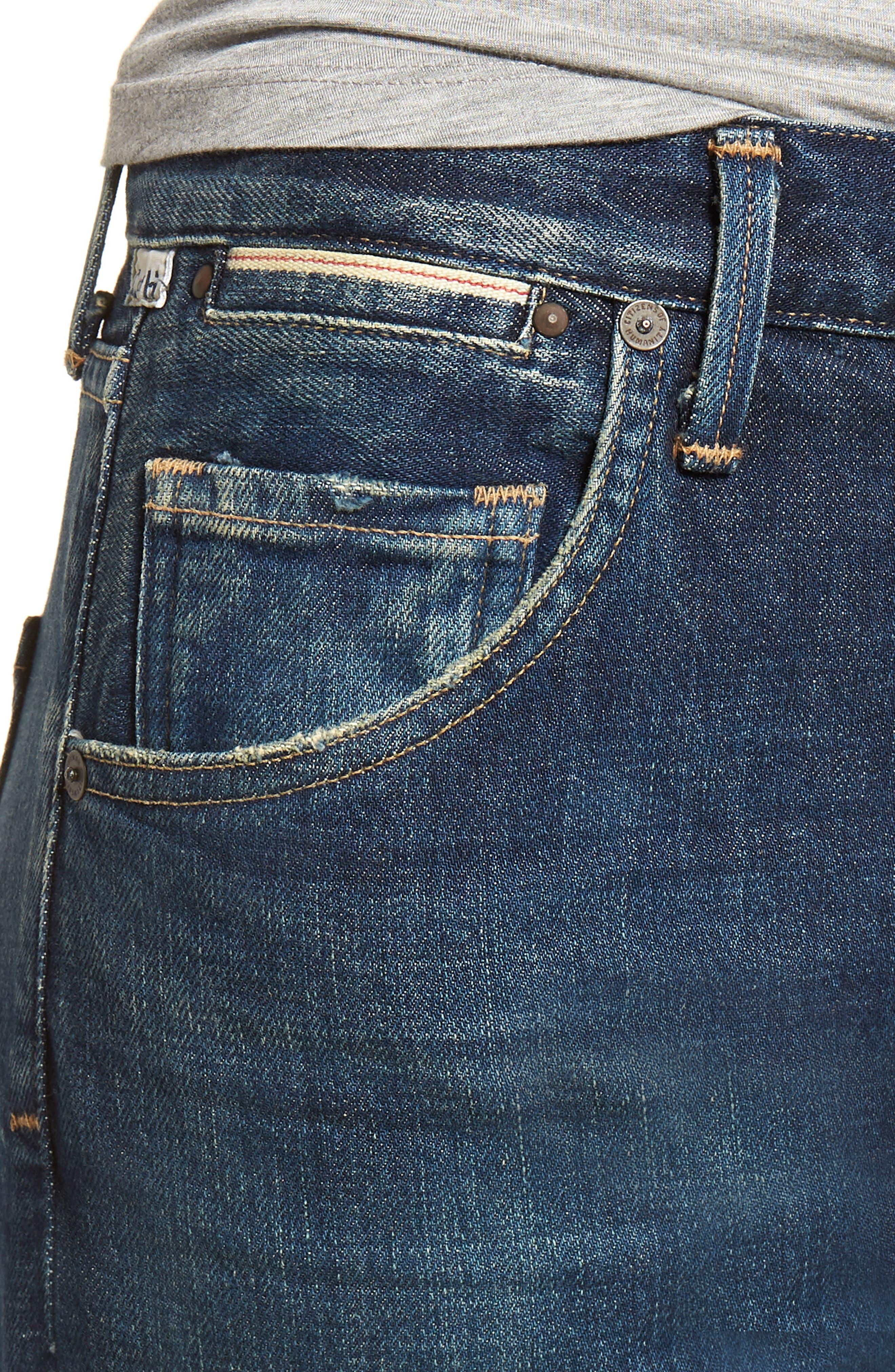 CITIZENS OF HUMANITY, Emerson Crop Slim Boyfriend Jeans, Alternate thumbnail 5, color, WHITAKER