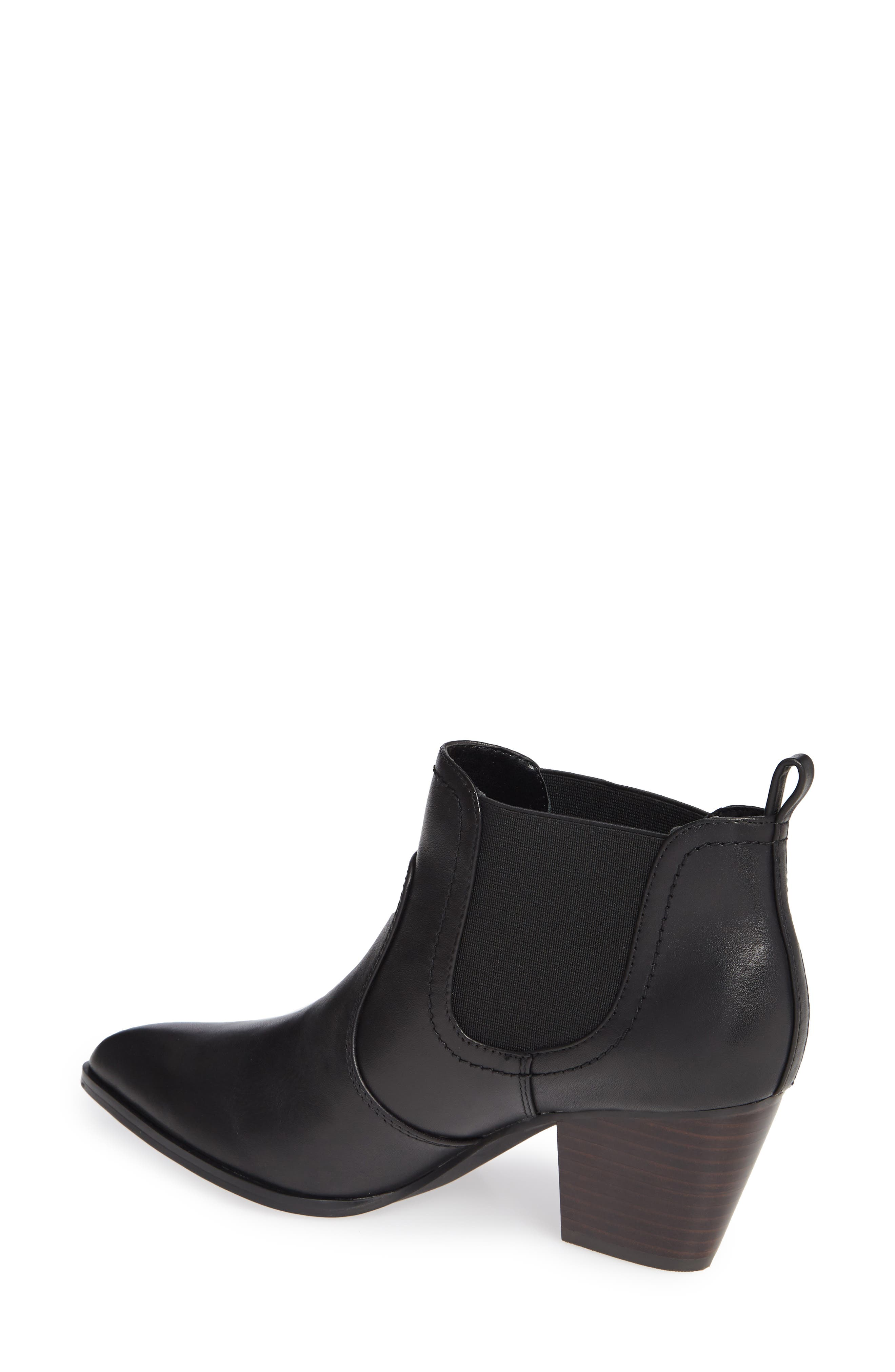 BELLA VITA, Emerson Chelsea Bootie, Alternate thumbnail 2, color, BLACK LEATHER