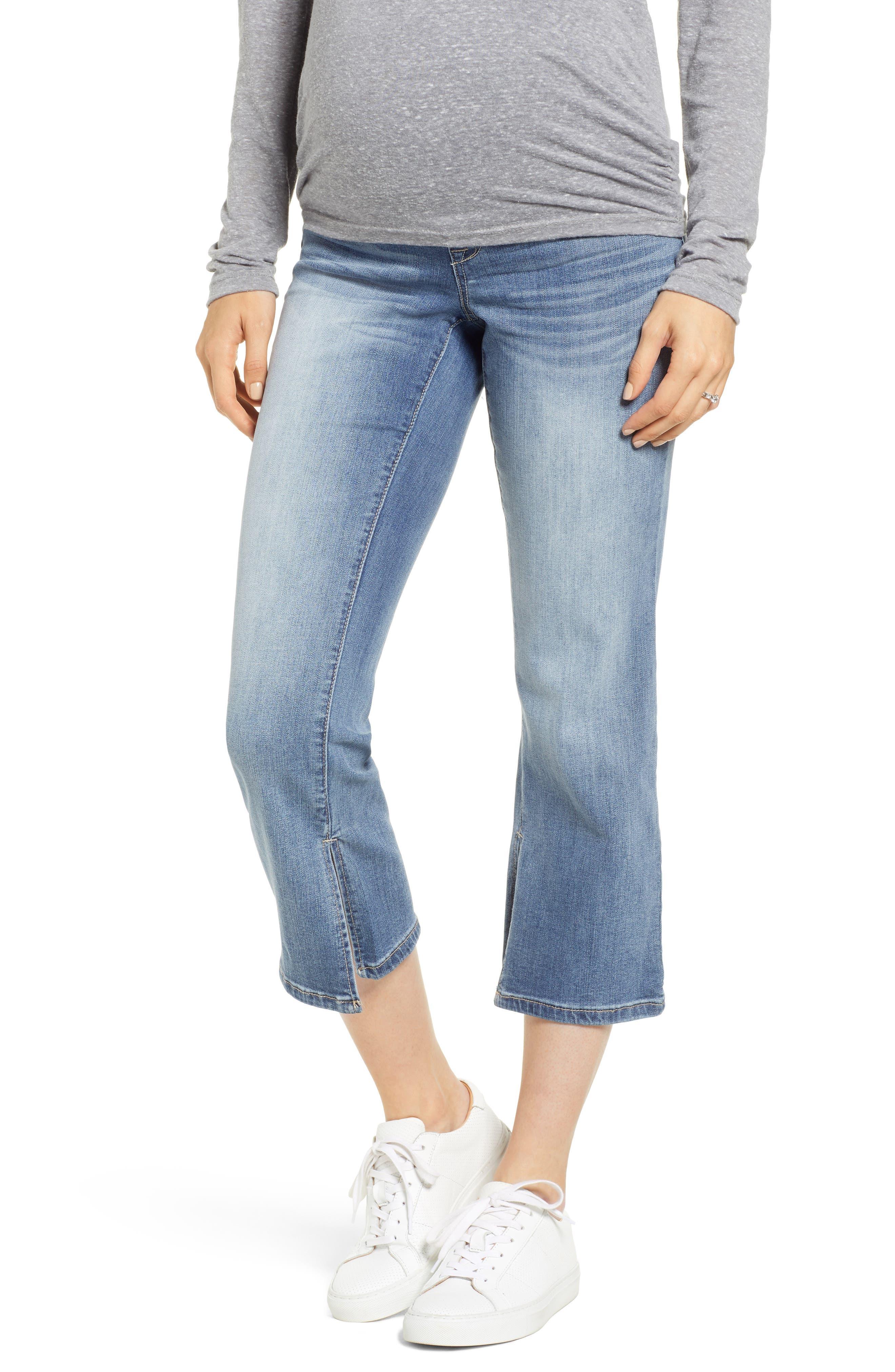 Women's 1822 Denim Slit Cuff Bootcut Maternity Jeans
