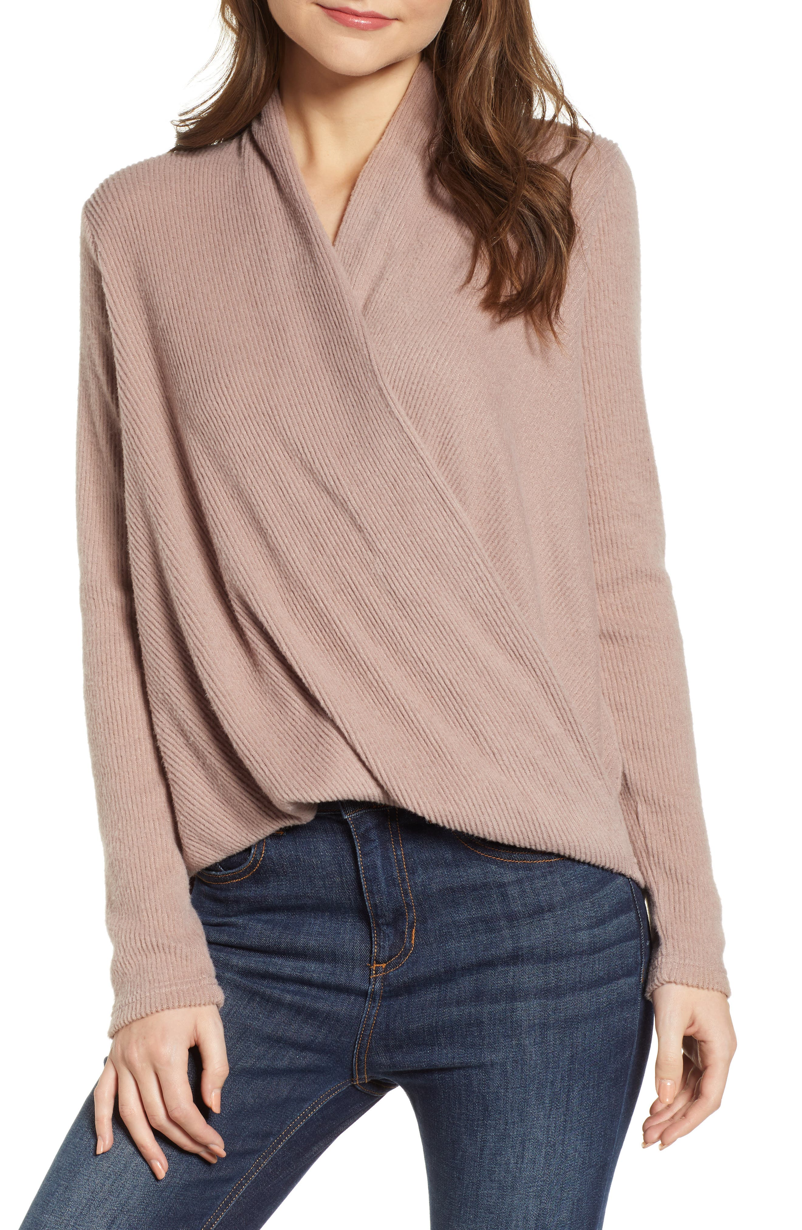 CODEXMODE Faux Wrap Sweater, Main, color, 250