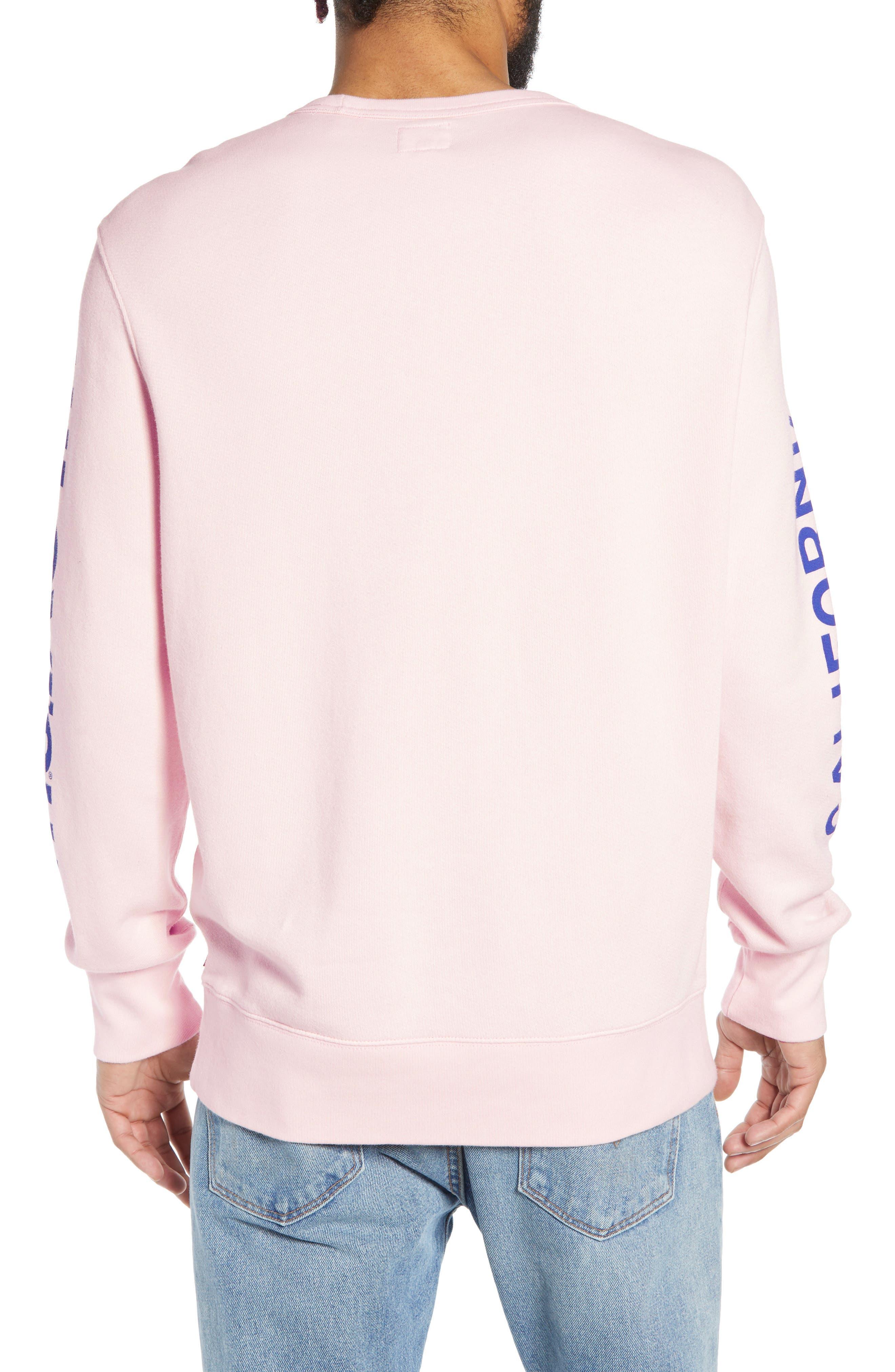 LEVI'S<SUP>®</SUP>, Logo Graphic Longline Crewneck Sweatshirt, Alternate thumbnail 2, color, BALLERINA