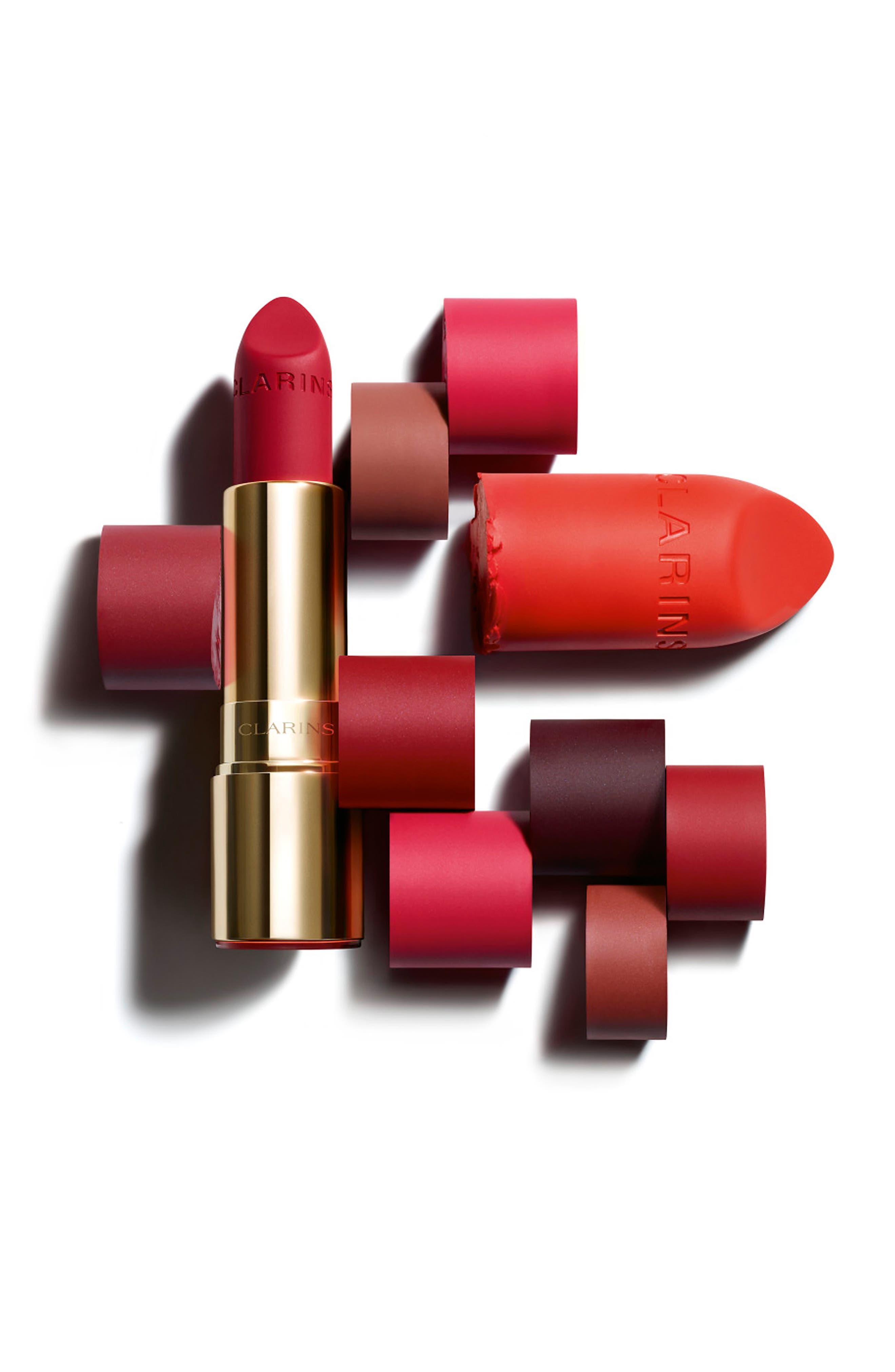 CLARINS, Joli Rouge Velvet Matte Lipstick, Alternate thumbnail 4, color, 737 SPICY CINNAMON