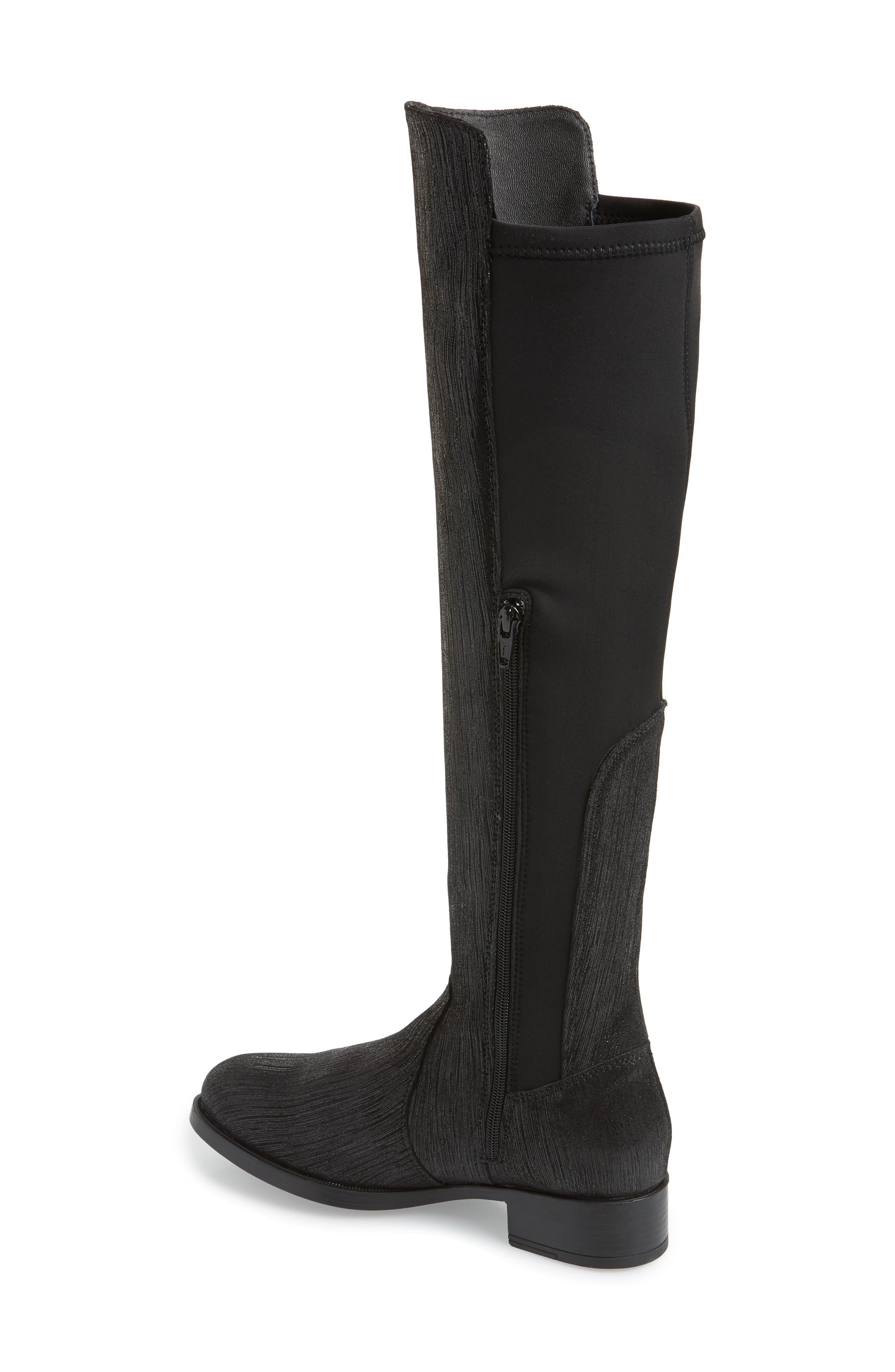 BOS. & CO., Bunt Waterproof Over the Knee Boot, Alternate thumbnail 2, color, BLACK METAL/ LYCRA