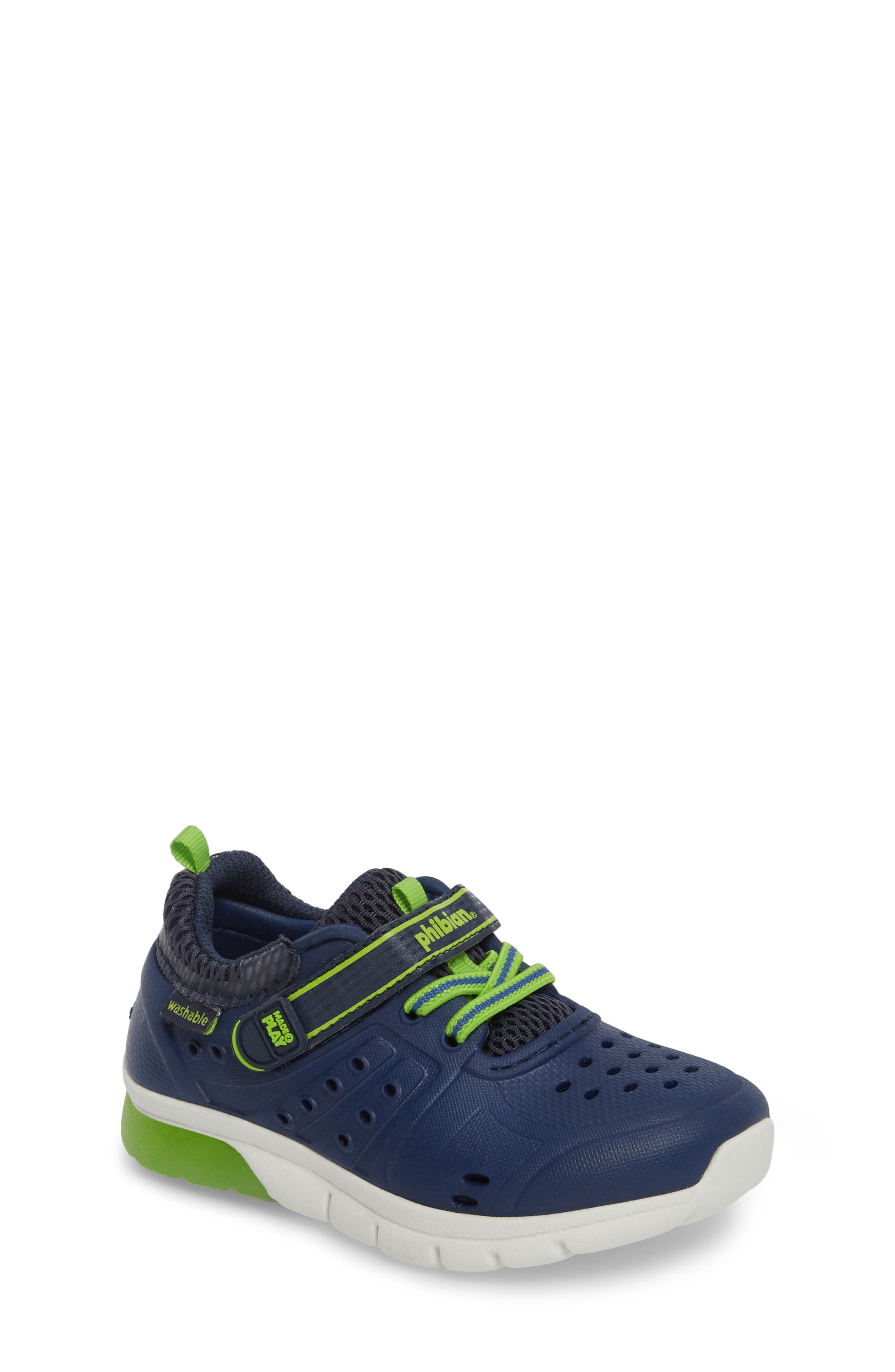 STRIDE RITE Made2Play<sup>®</sup> Phibian Light-Up Sneaker, Main, color, NAVY