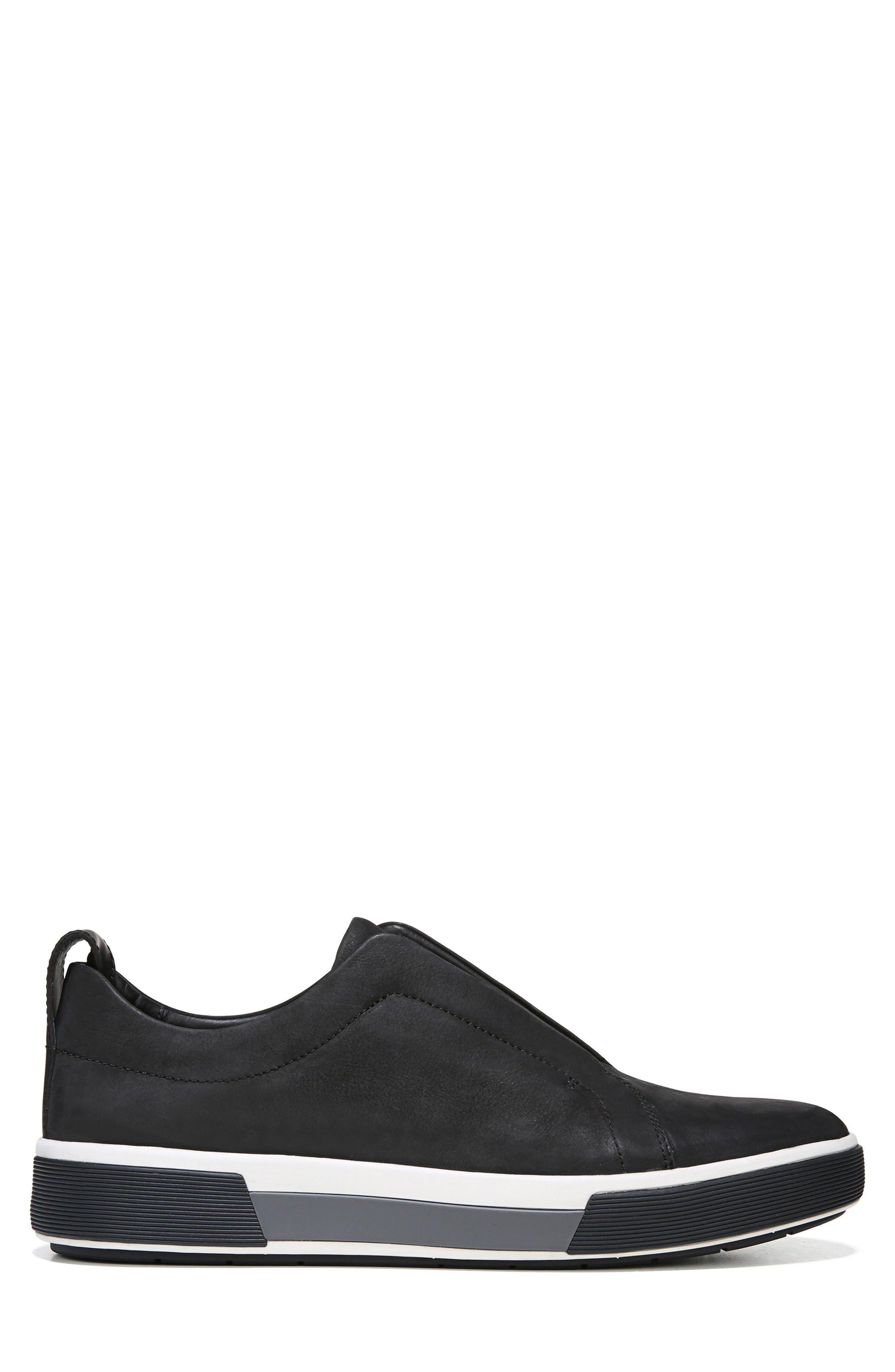 VINCE, Ranger Laceless Sneaker, Alternate thumbnail 3, color, BLACK