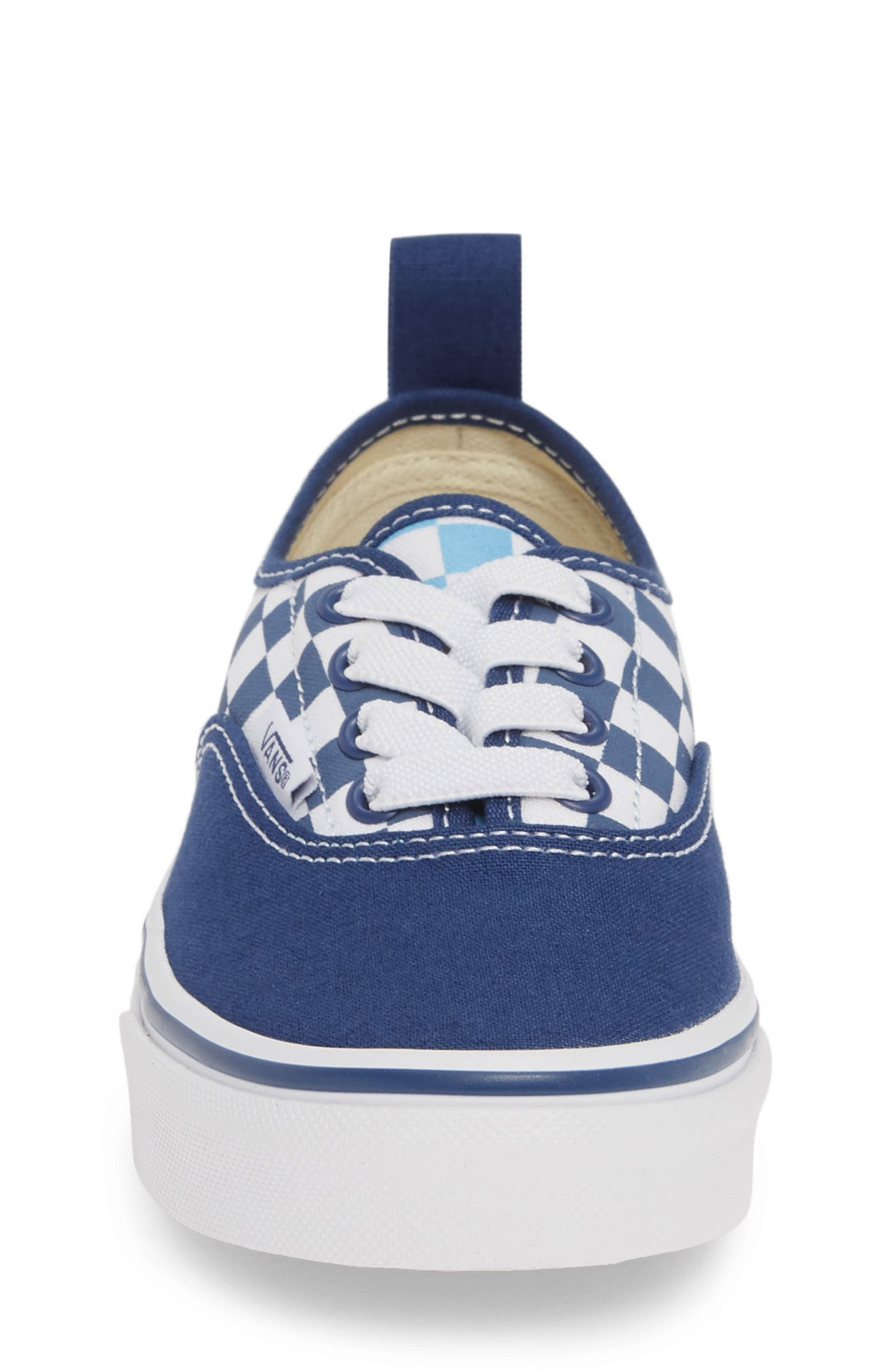 VANS, Authentic Elastic Lace Sneaker, Alternate thumbnail 4, color, TRUE NAVY/ BONNIE BLUE